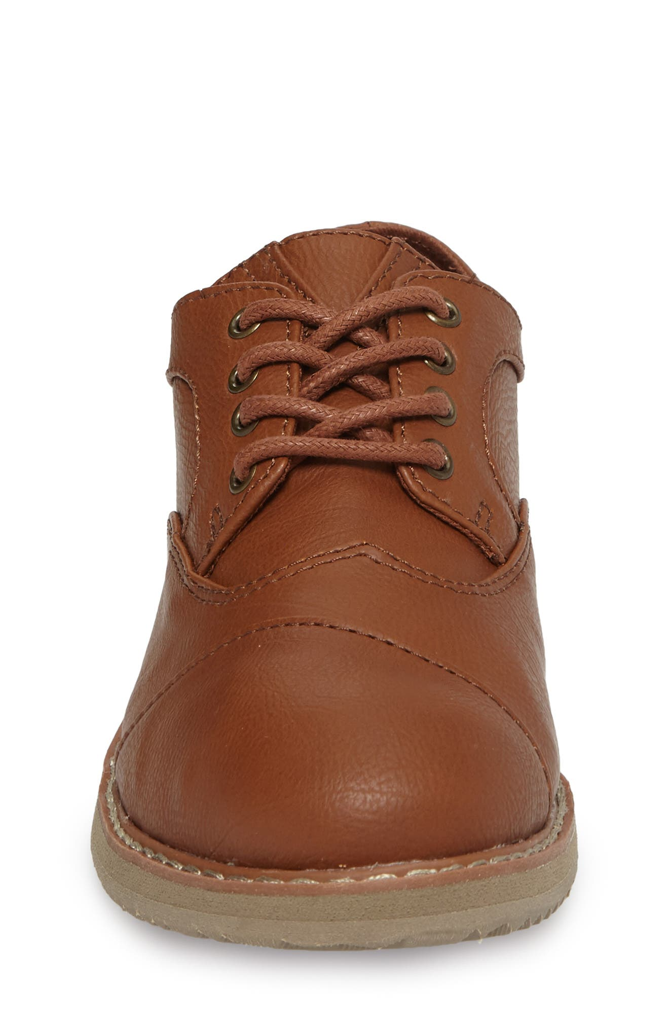 Brogue Cap Toe Wingtip Oxford,                             Alternate thumbnail 4, color,                             TOFFEE