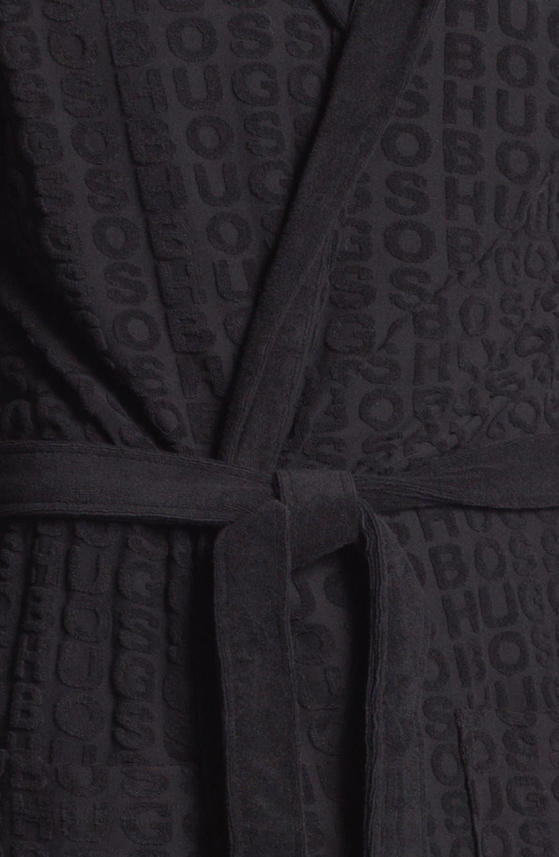 HUGO BOSS 'Innovation 3' Robe,                             Alternate thumbnail 3, color,                             001