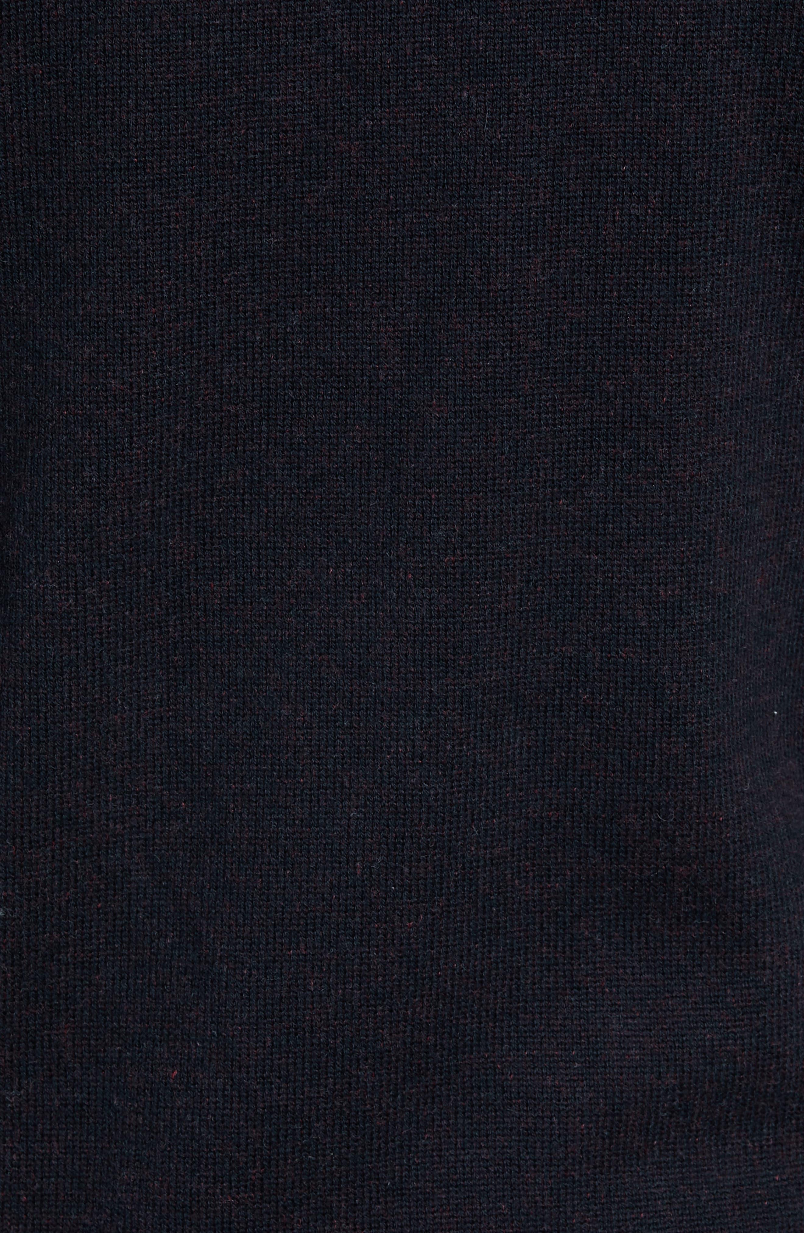 Regular Fit Cotton & Cashmere Hoodie,                             Alternate thumbnail 5, color,                             BLACK CAVIAR