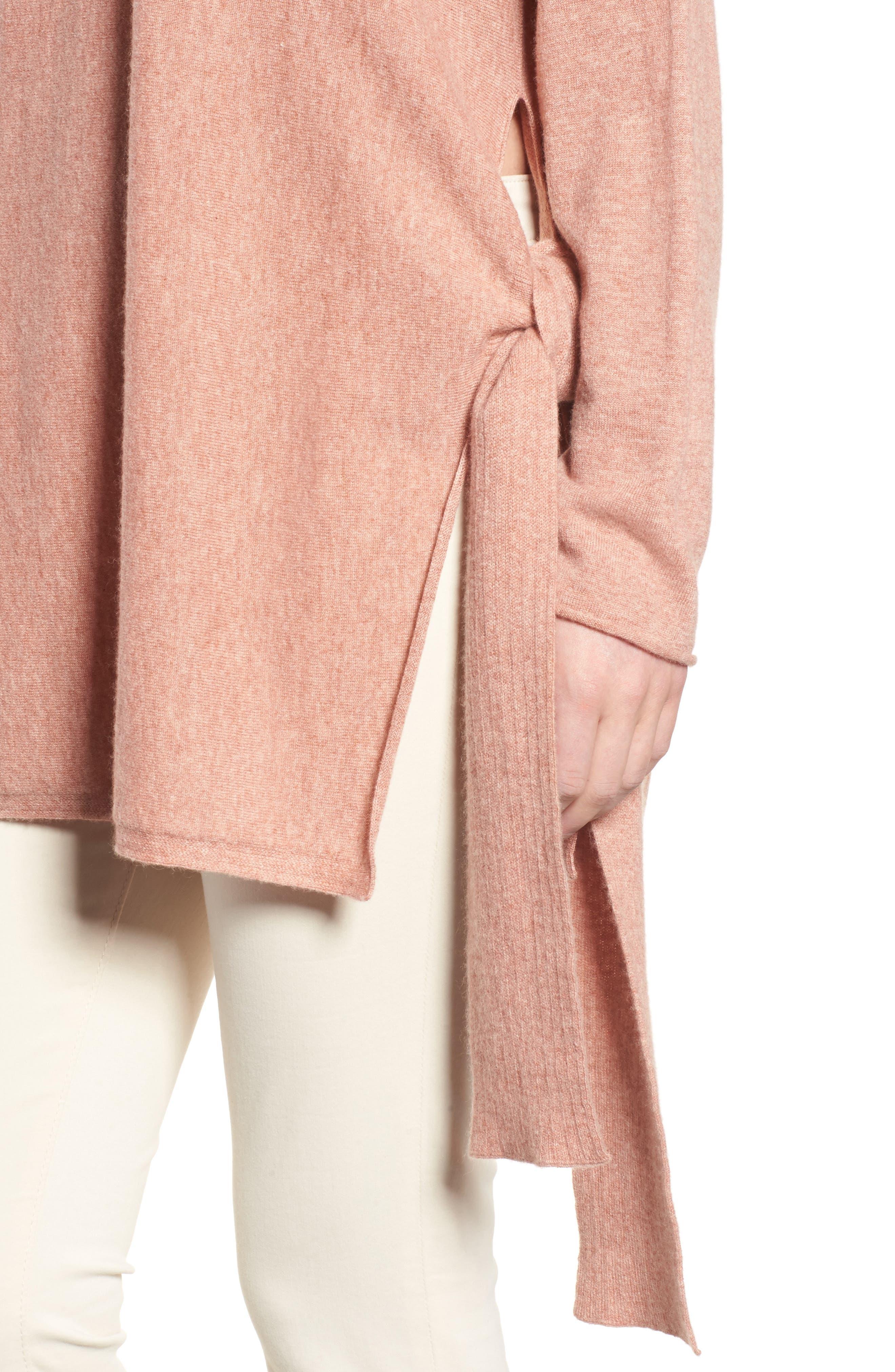 Cashmere Tunic Sweater,                             Alternate thumbnail 8, color,
