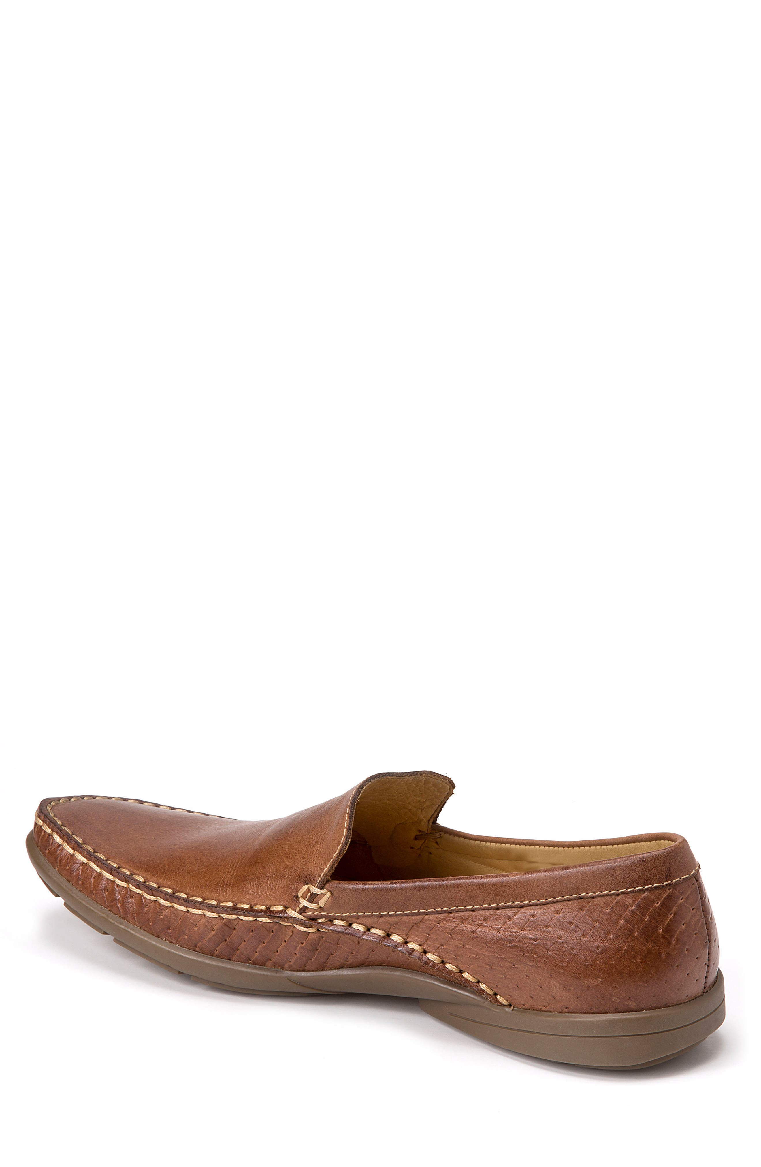 Dudley Moc Toe Loafer,                             Alternate thumbnail 2, color,                             TAN LEATHER