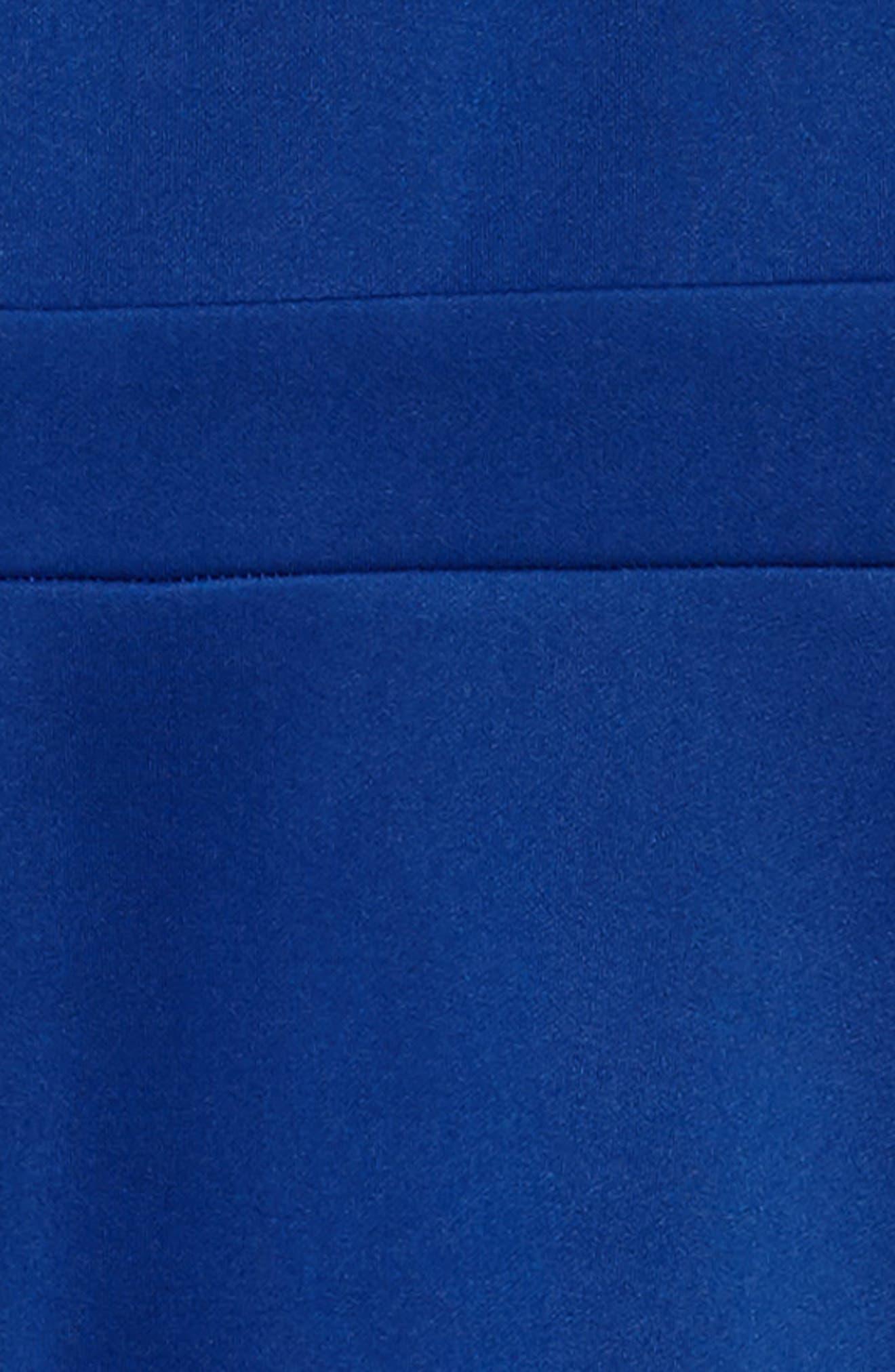Illusion Neck Skater Dress,                             Alternate thumbnail 3, color,                             420