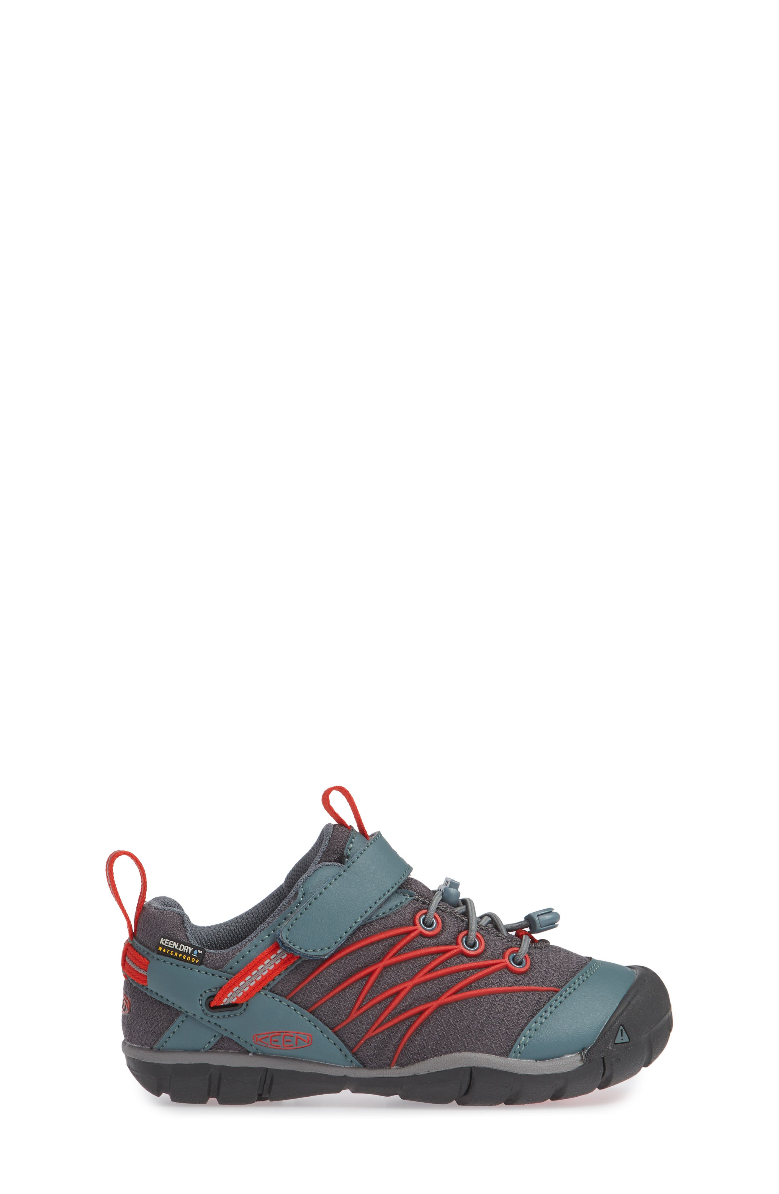 'Chandler CNX' Water Repellent Sneaker,                             Alternate thumbnail 3, color,                             STORMY WEATHER/ FIRE RED