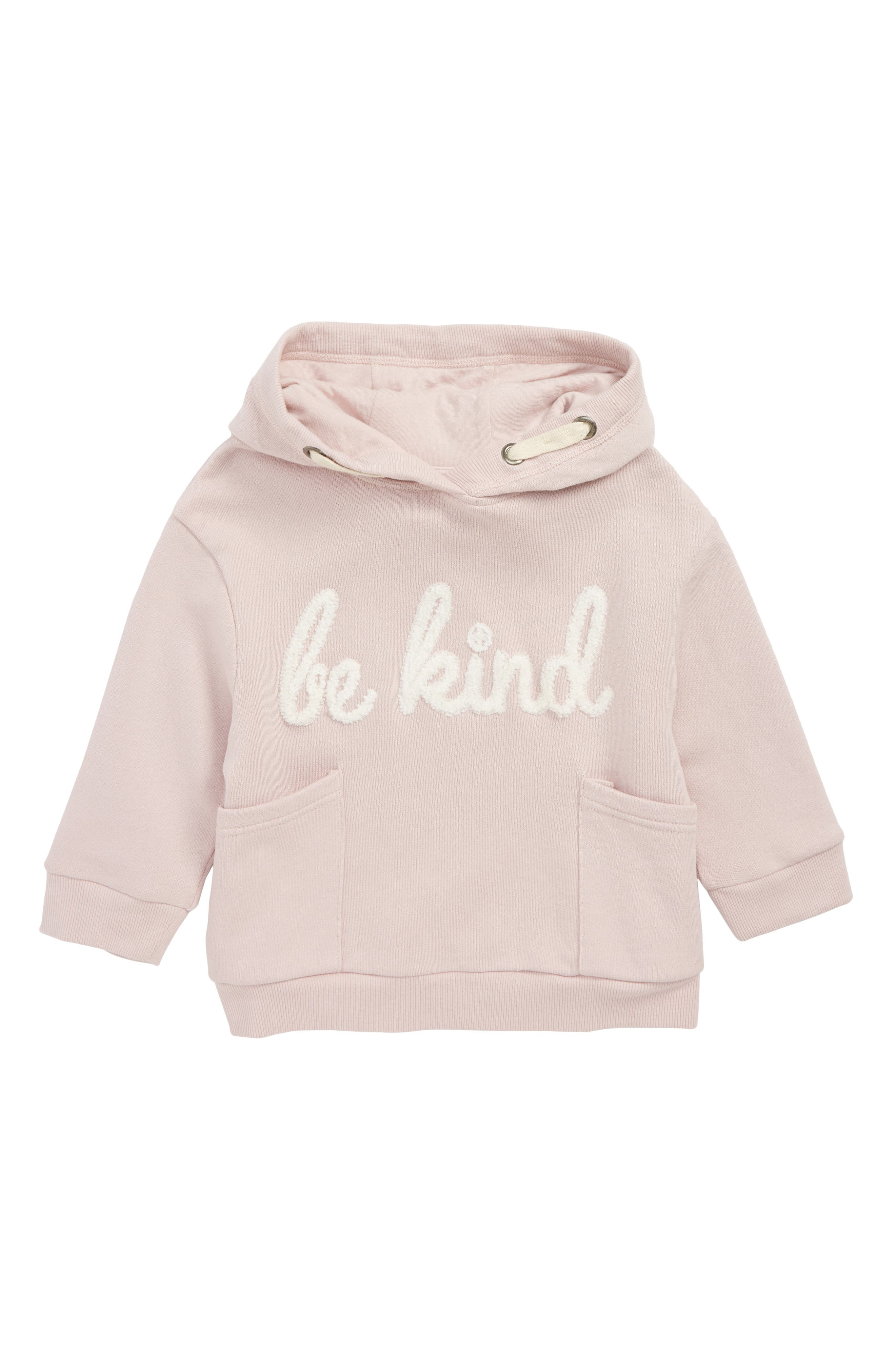 Be Kind Hoodie,                             Main thumbnail 1, color,                             PALE PINK