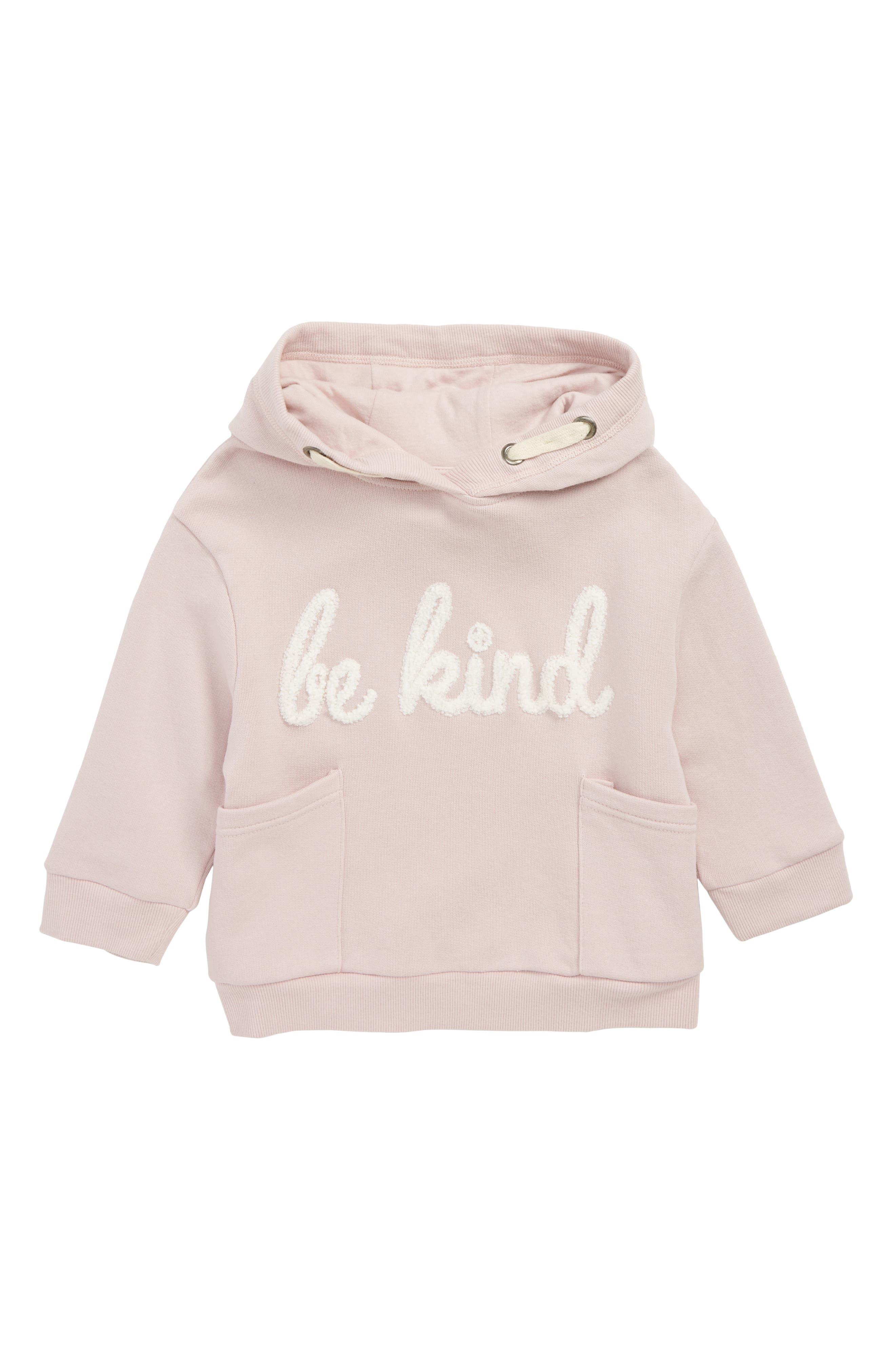 Be Kind Hoodie,                         Main,                         color, PALE PINK