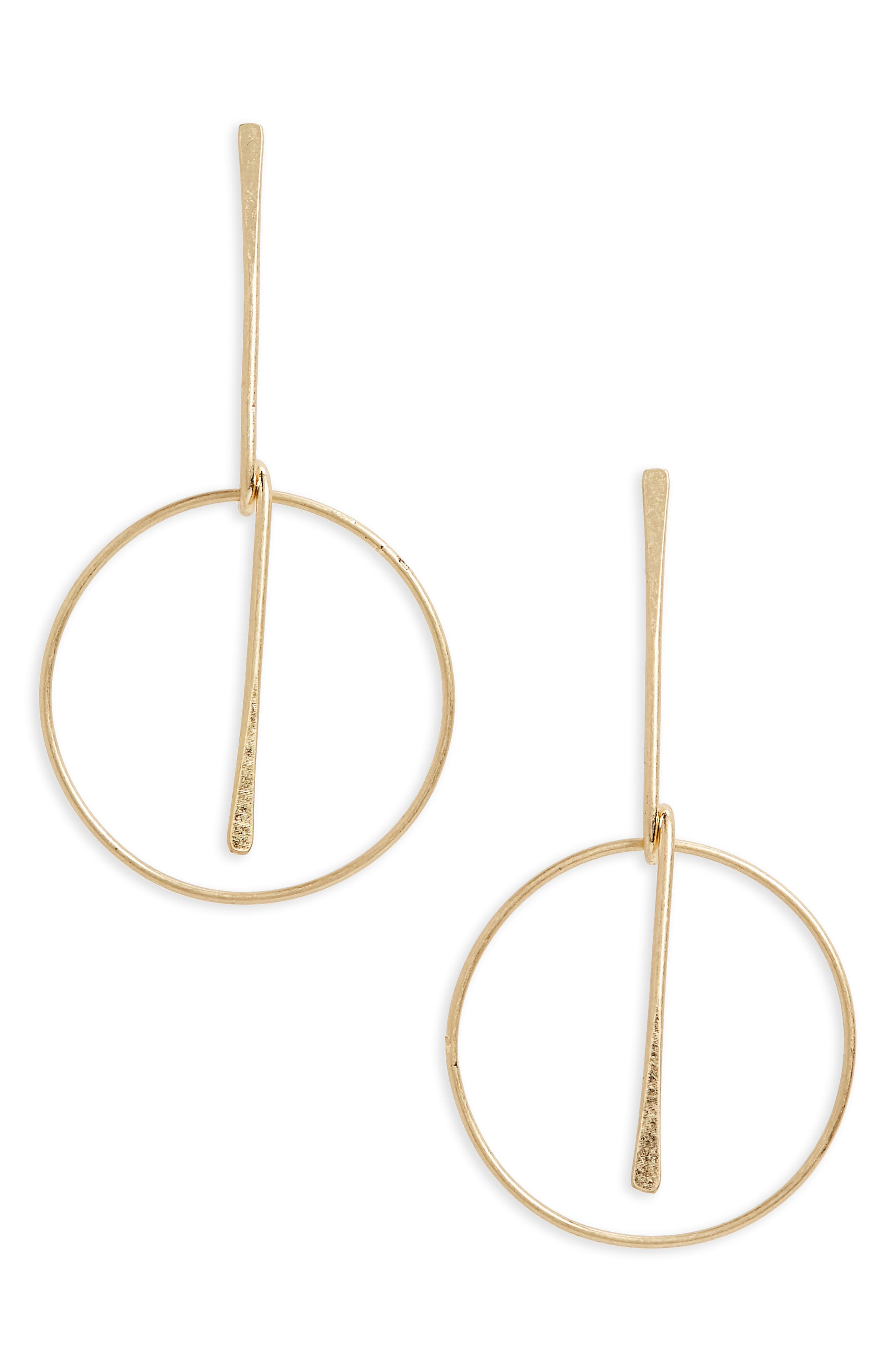 Frontal Hoop Earrings,                             Main thumbnail 1, color,                             710