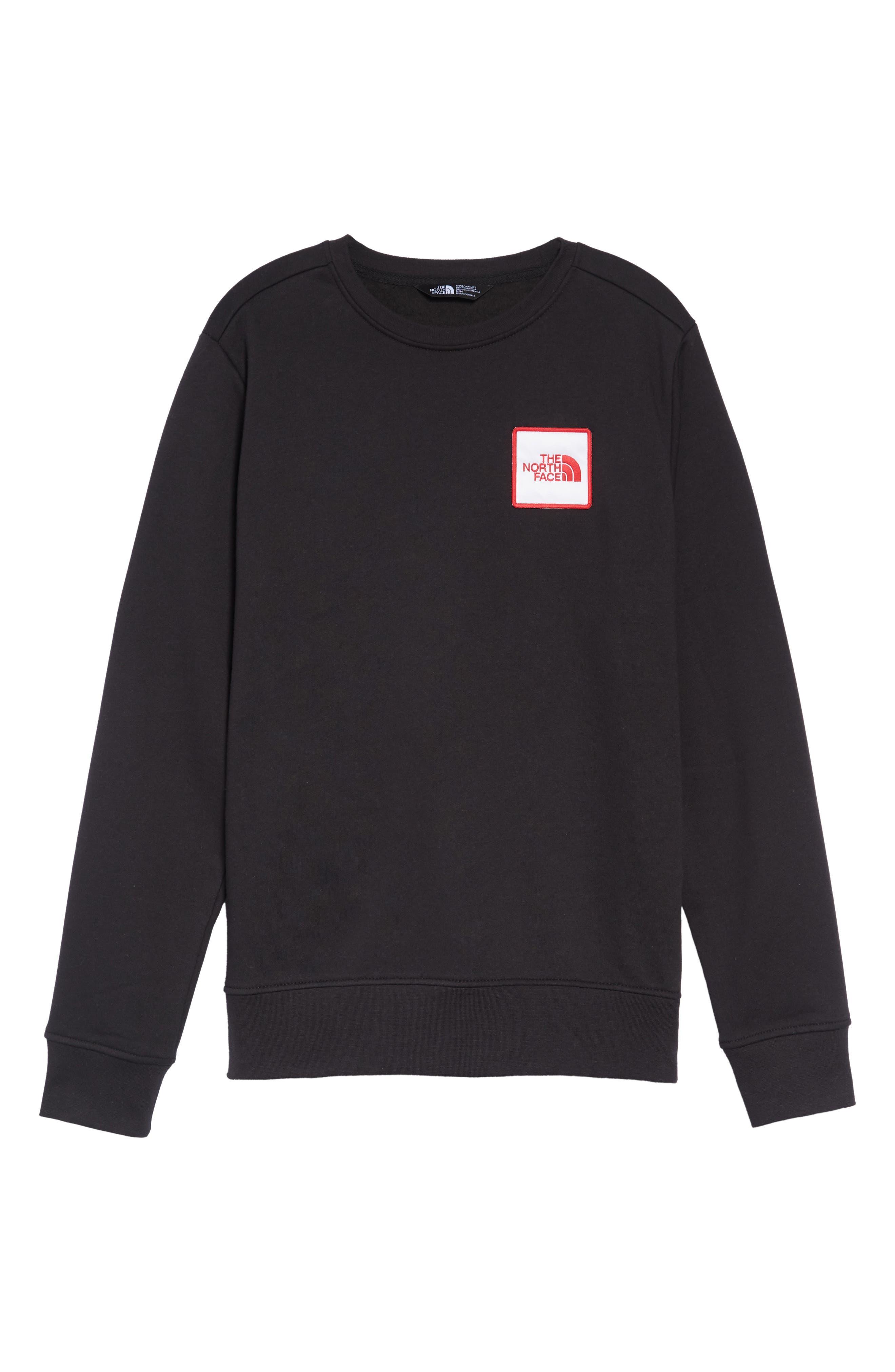 Logo Sweatshirt,                             Alternate thumbnail 6, color,                             TNF BLACK