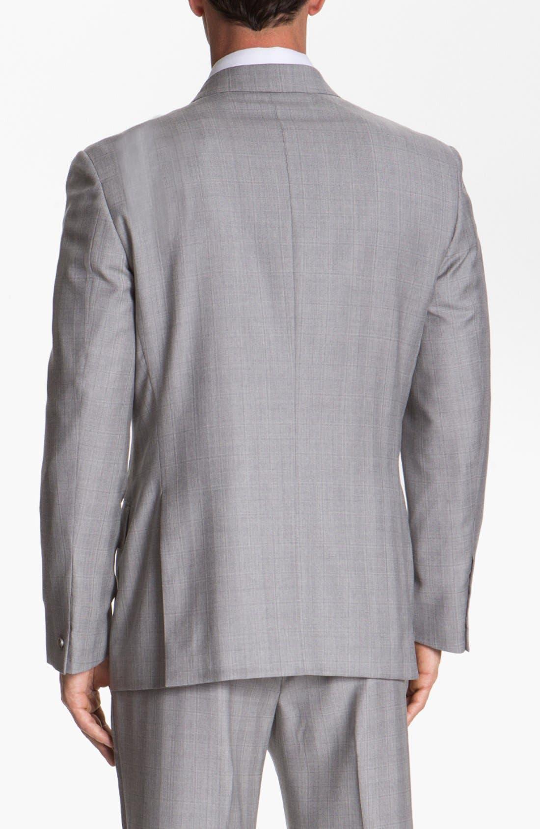 JOSEPH ABBOUD,                             'Platinum' Double Breasted Suit,                             Alternate thumbnail 4, color,                             050
