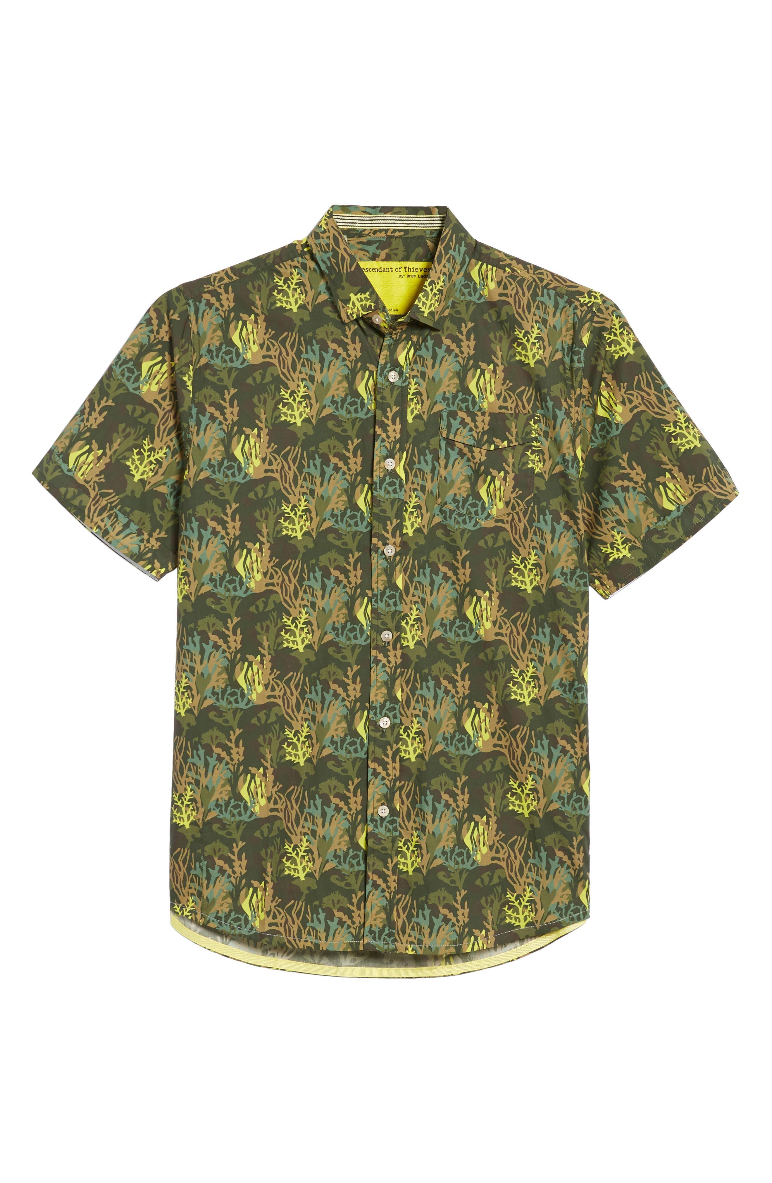 Bottom of The Ocean Woven Shirt,                             Alternate thumbnail 6, color,                             300