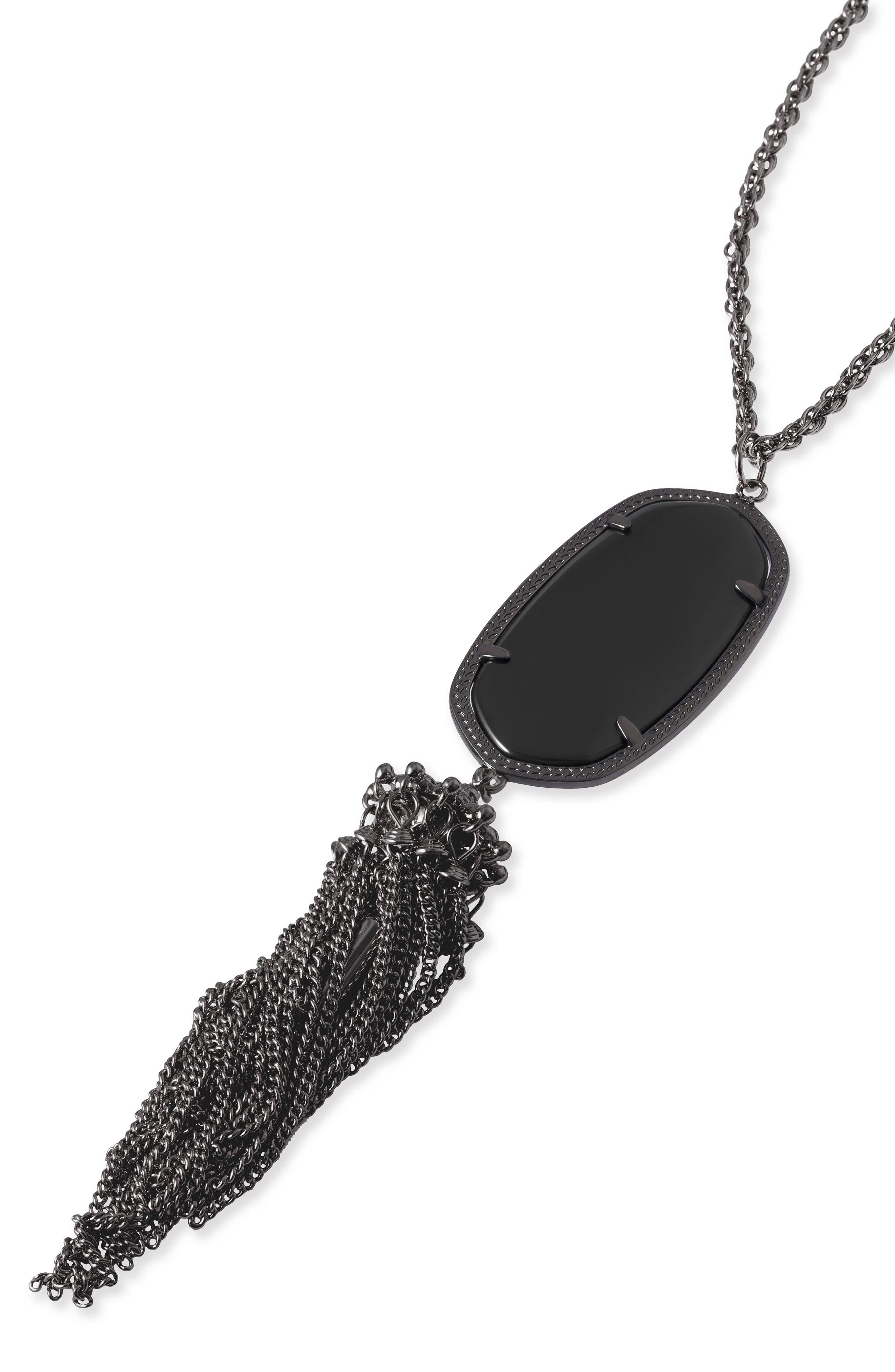 Rayne Stone Tassel Pendant Necklace,                             Alternate thumbnail 80, color,