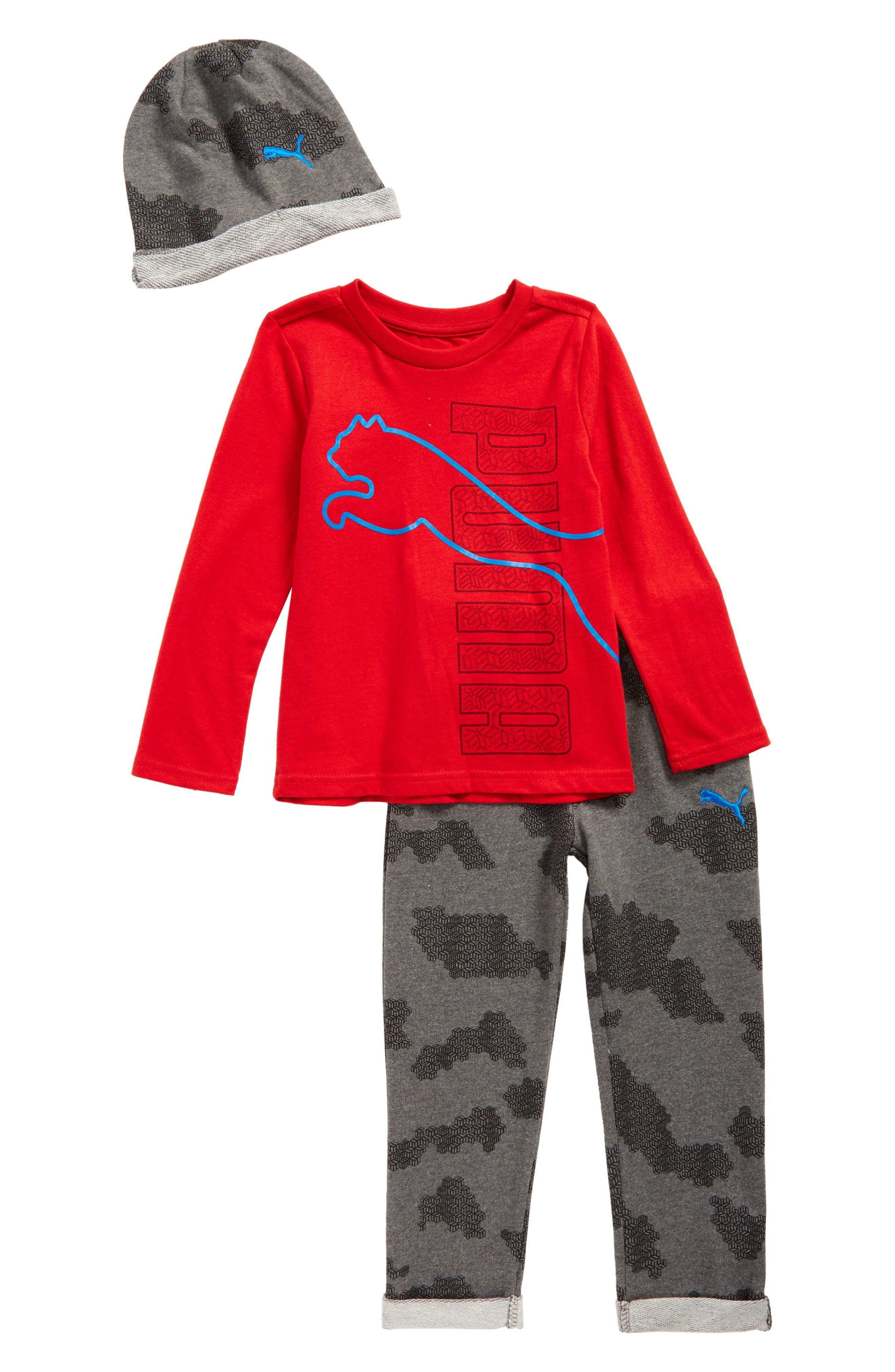 Hat, T-Shirt & Sweatpants Set,                         Main,                         color, 630