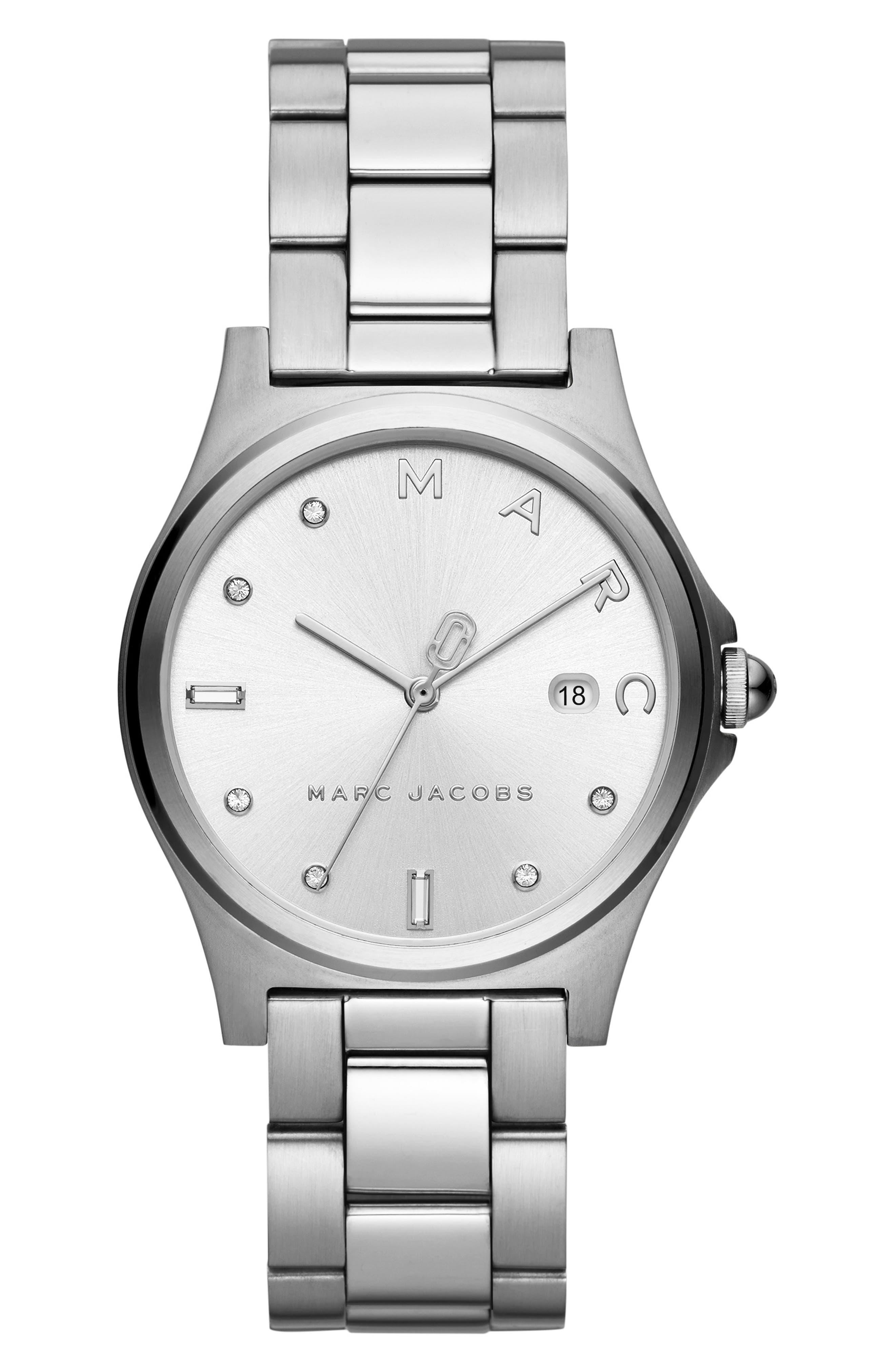 Henry Bracelet Watch, 36mm, Main, color, SILVER
