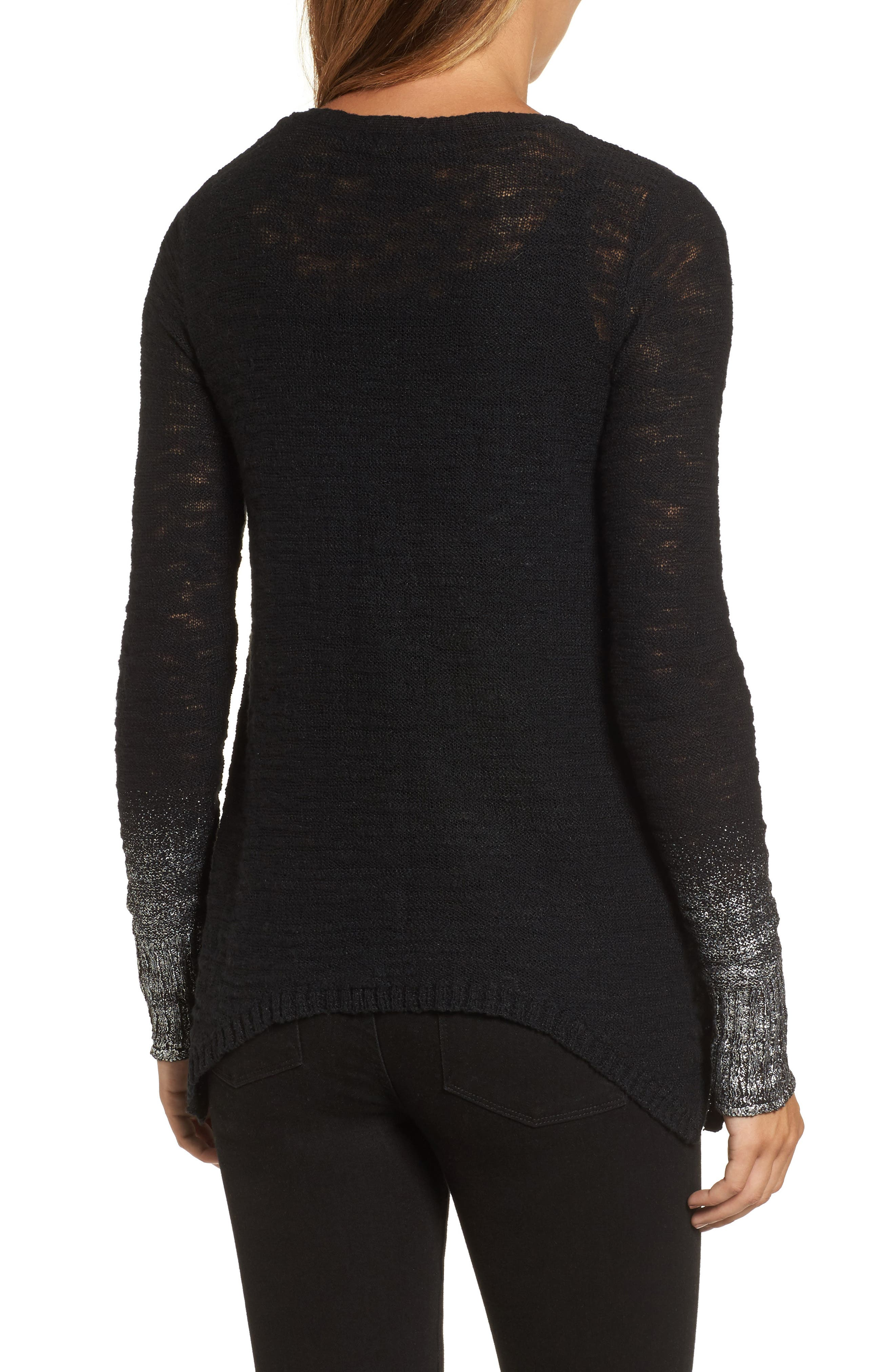 Foil Dipped Sweater,                             Alternate thumbnail 2, color,                             001