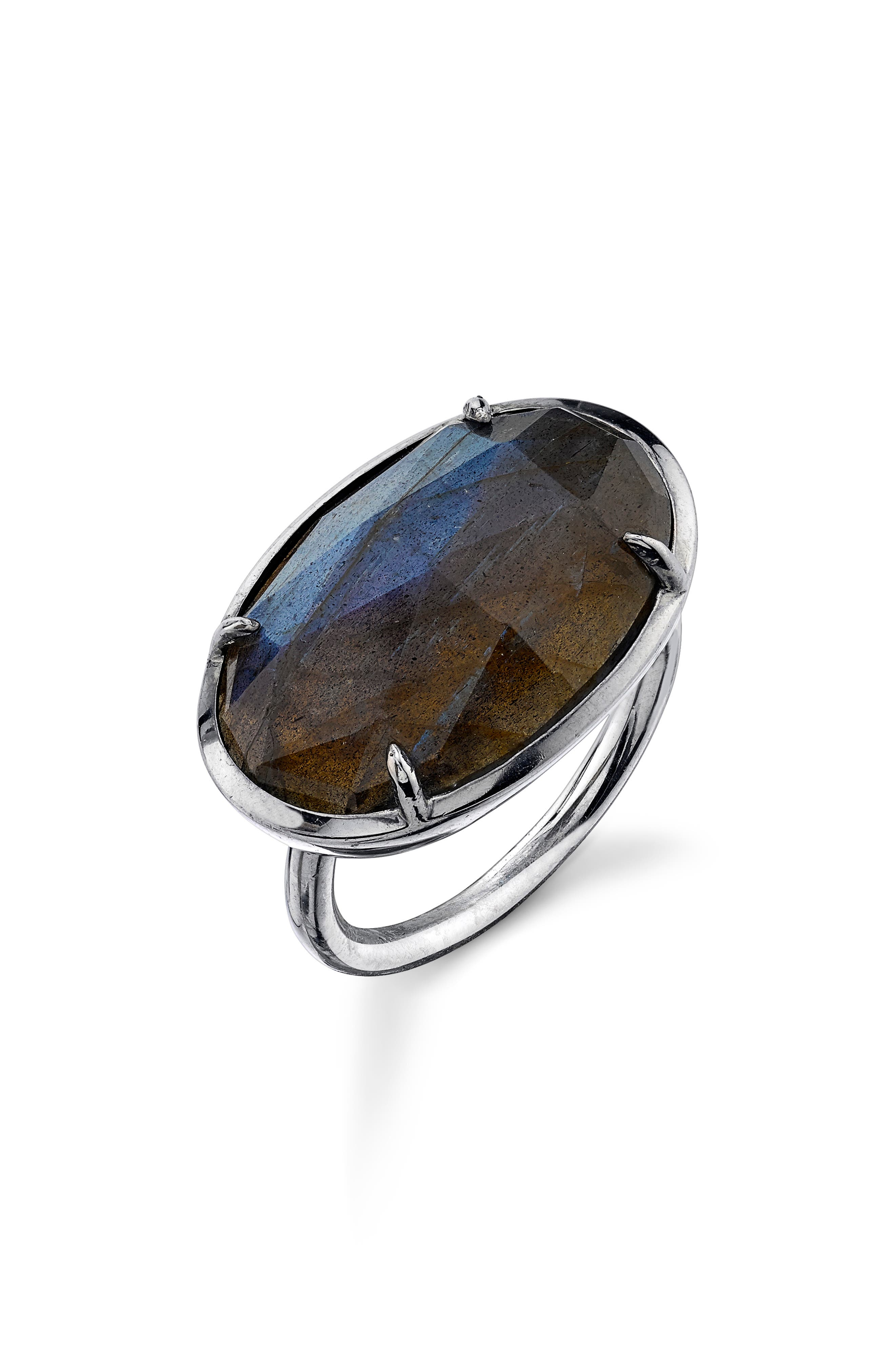 East/West Labradorite Ring