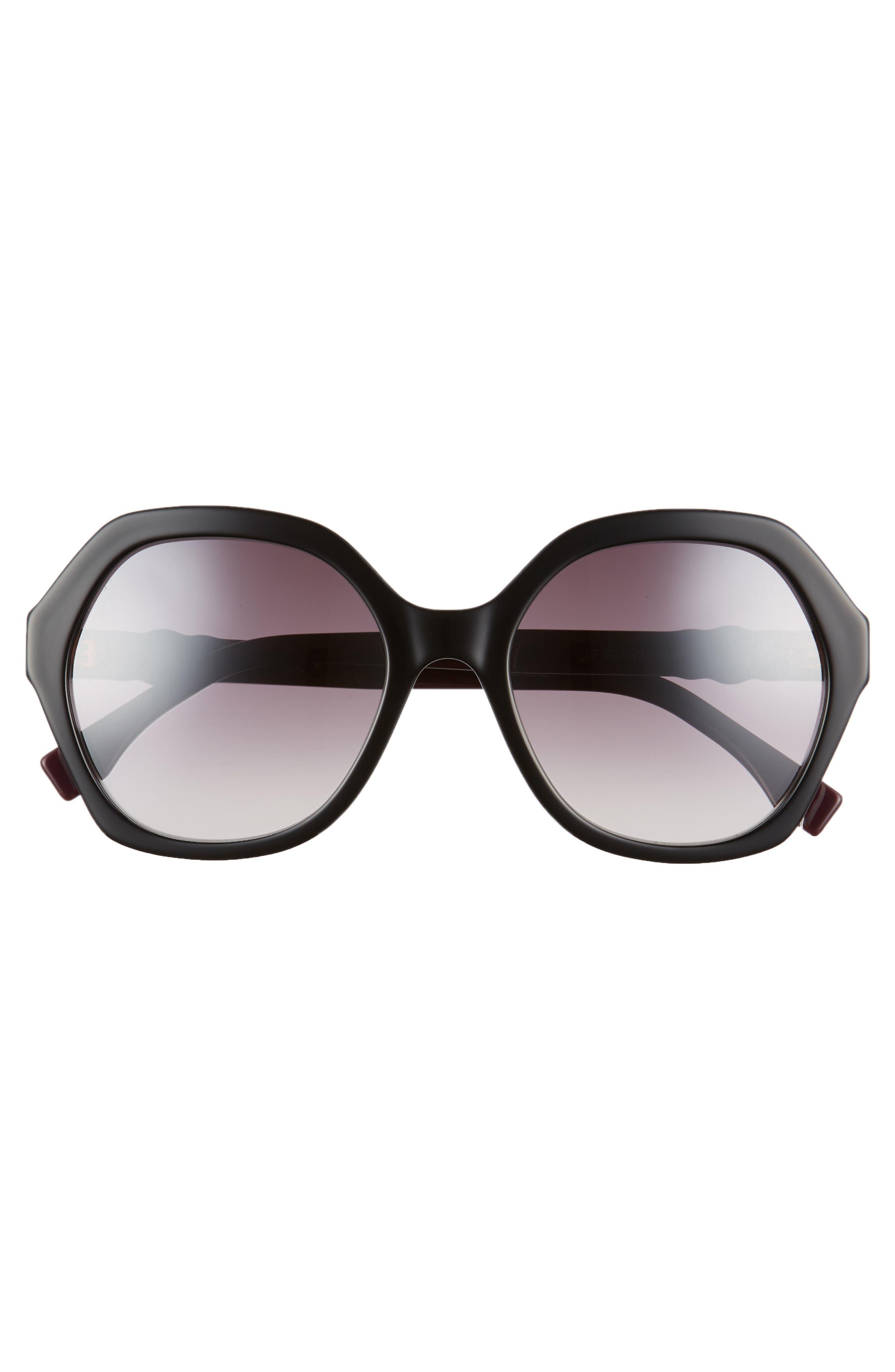 56mm Oversize Sunglasses,                             Alternate thumbnail 3, color,                             001