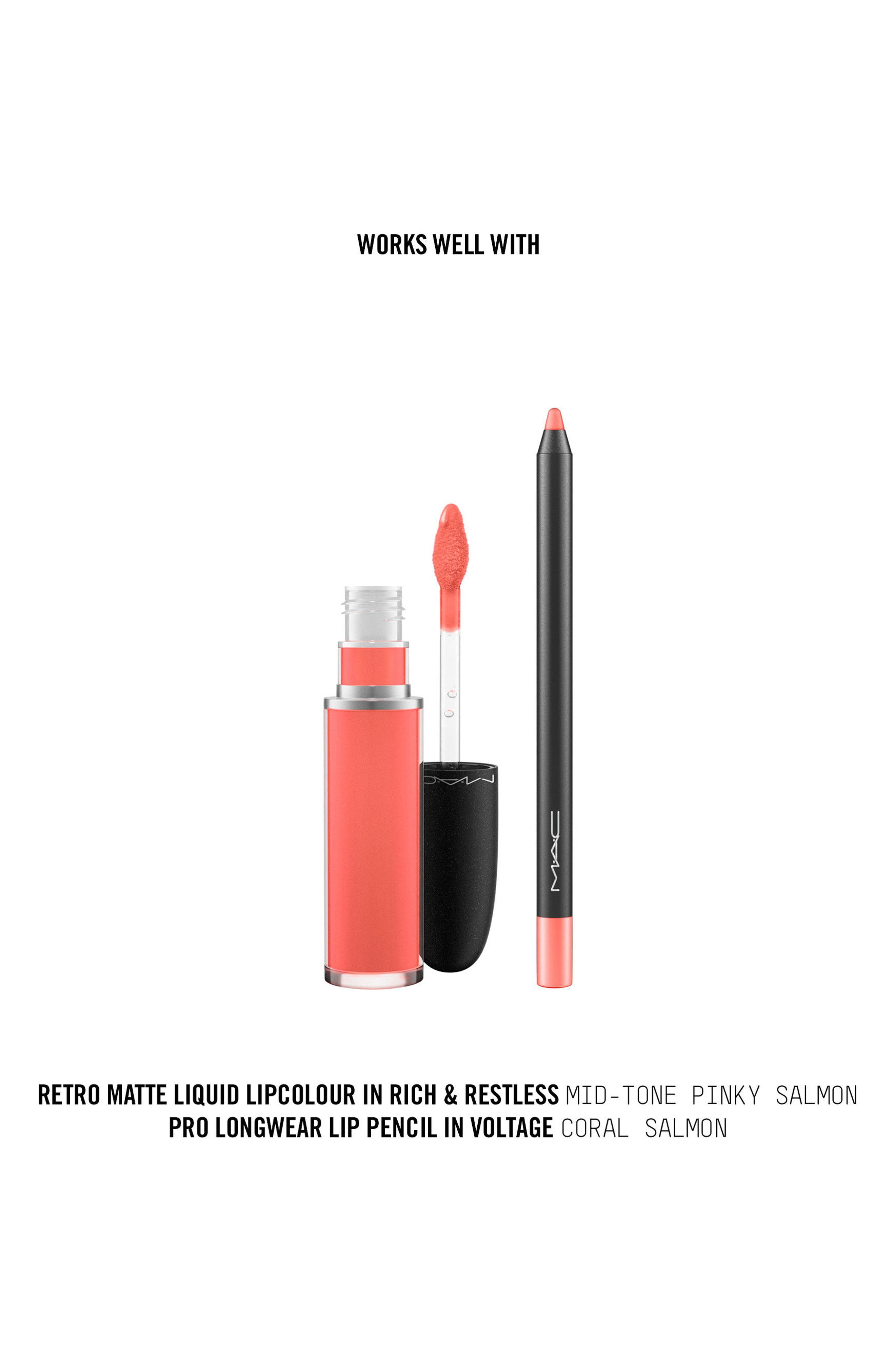 MAC Retro Matte Liquid Lipcolor,                             Alternate thumbnail 158, color,