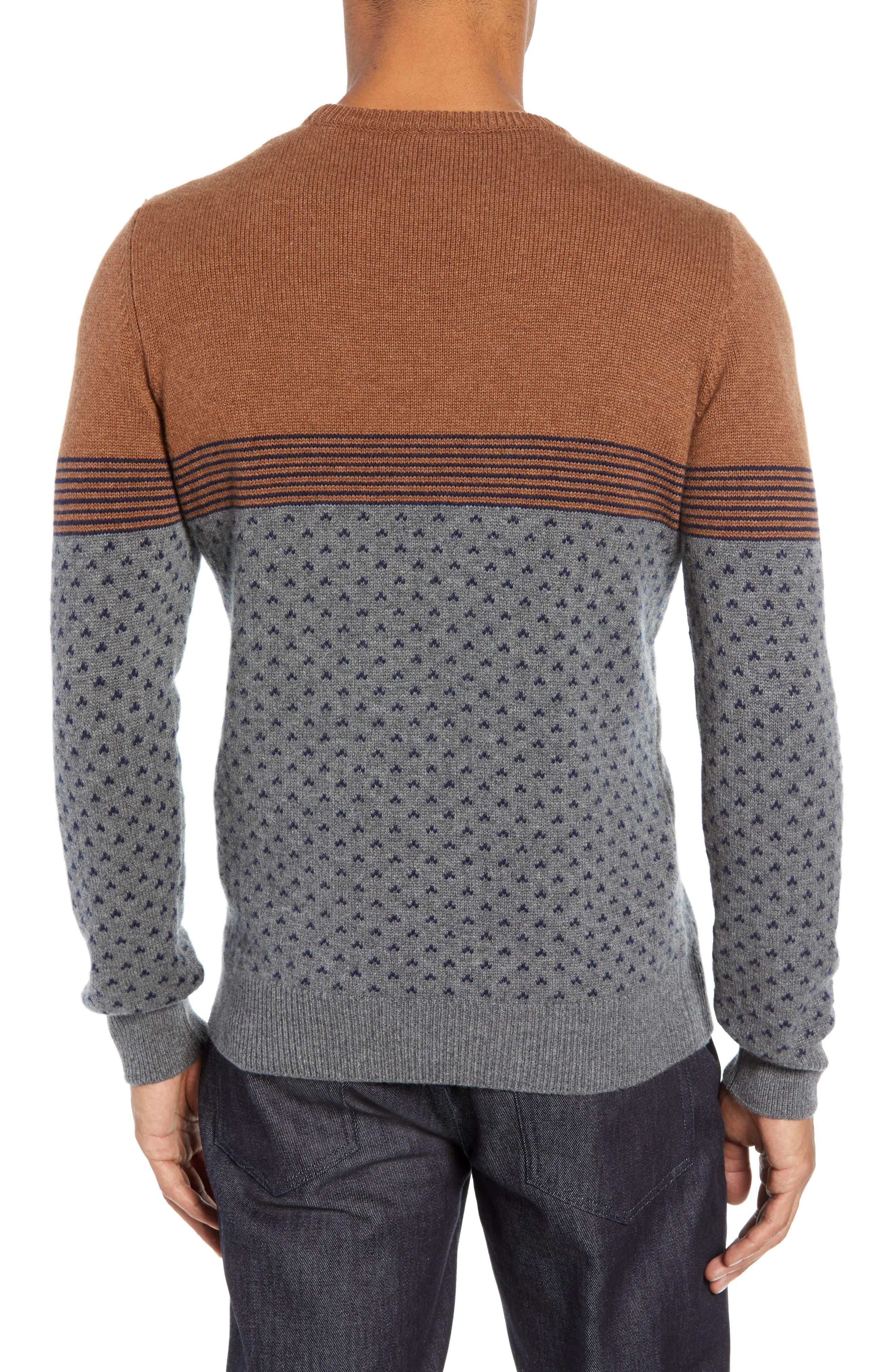 Trim Fit Cashmere Sweater,                             Alternate thumbnail 2, color,                             GREY