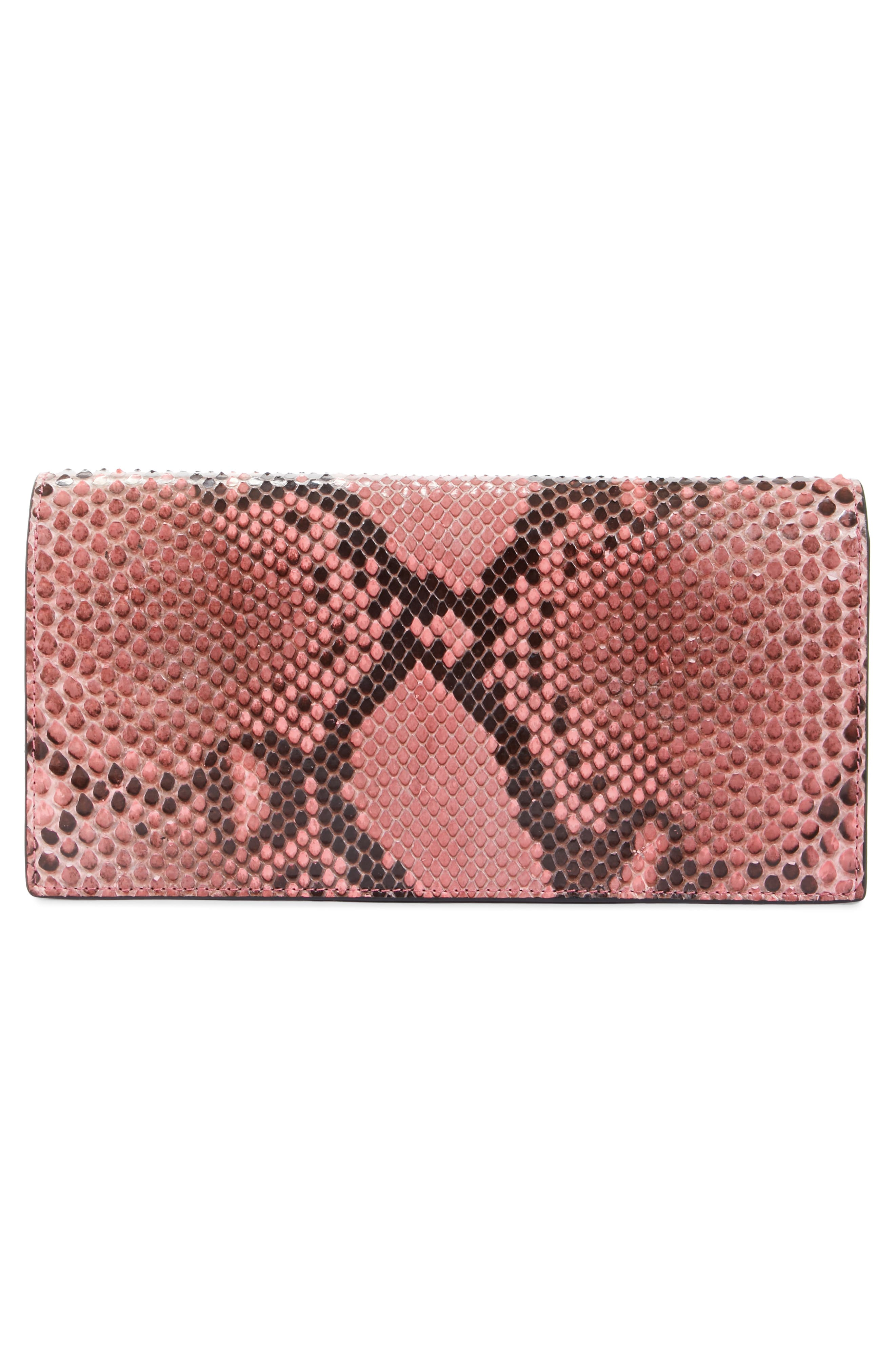 Crystal Strap Genuine Python Clutch,                             Alternate thumbnail 3, color,                             686