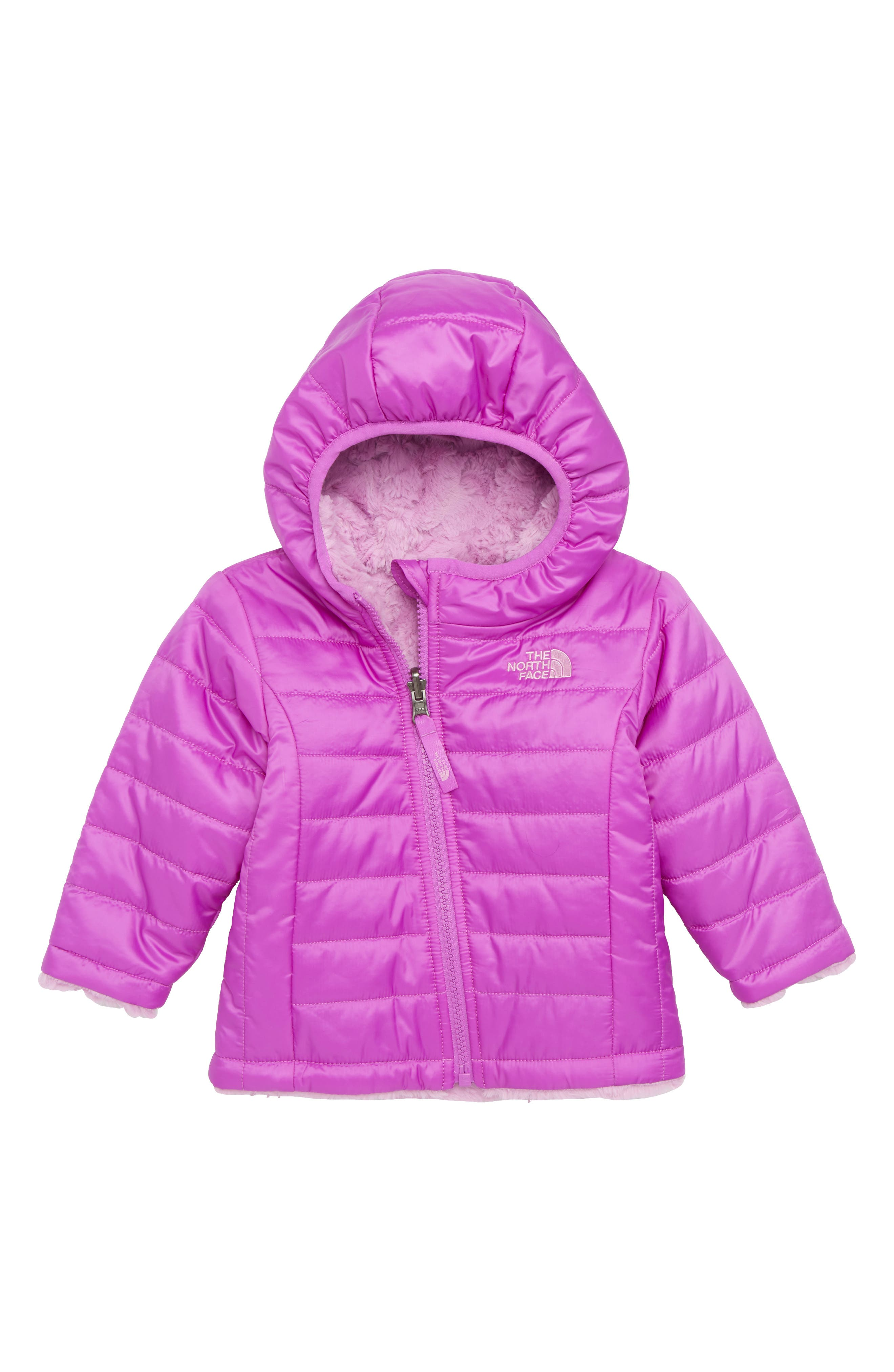 THE NORTH FACE,                             Mossbud Reversible Water Repellent Heatseeker<sup>™</sup> Insulated Jacket,                             Main thumbnail 1, color,                             510