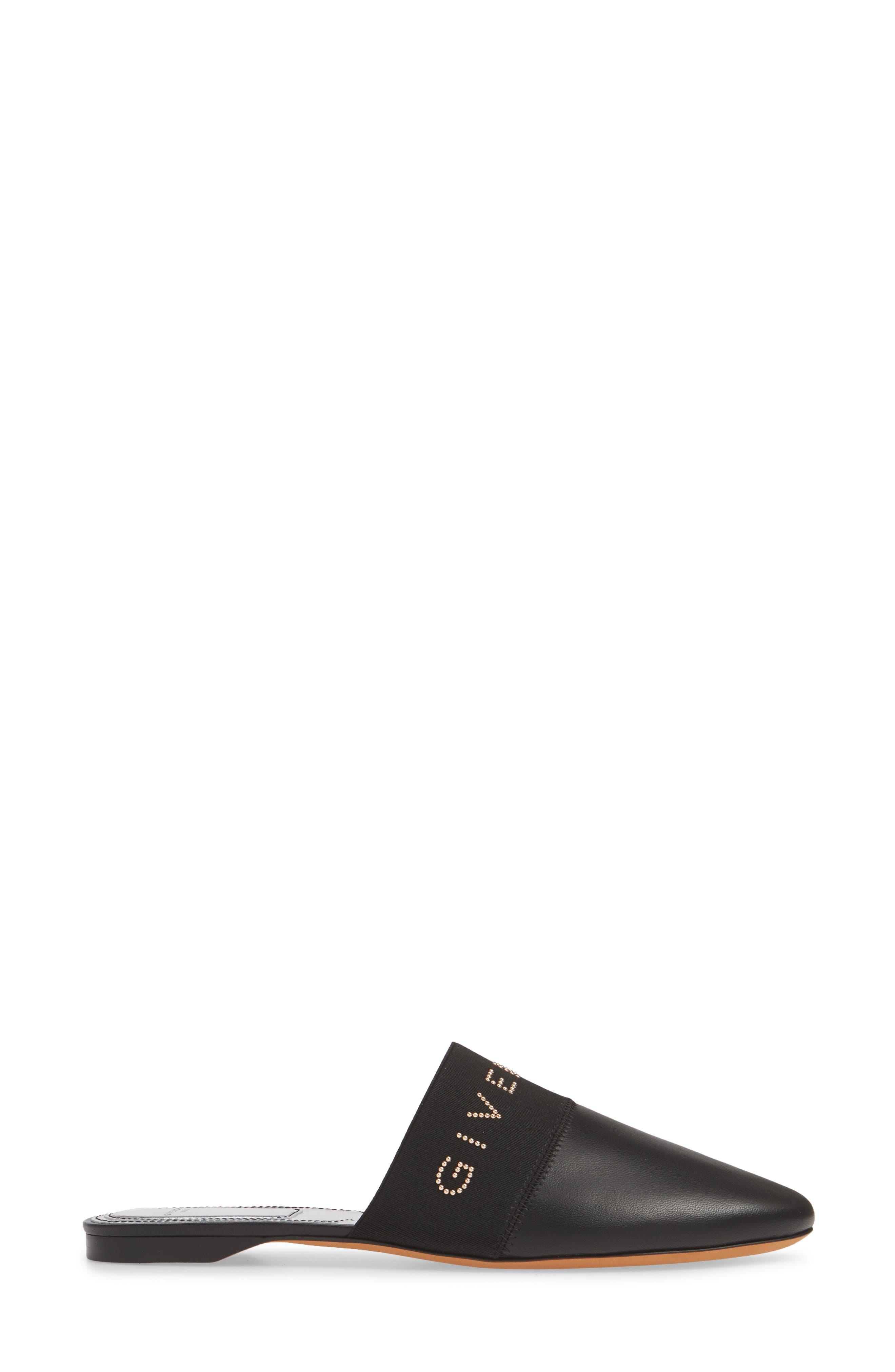 GIVENCHY,                             Bedford Logo Mule,                             Alternate thumbnail 3, color,                             BLACK/ GOLD