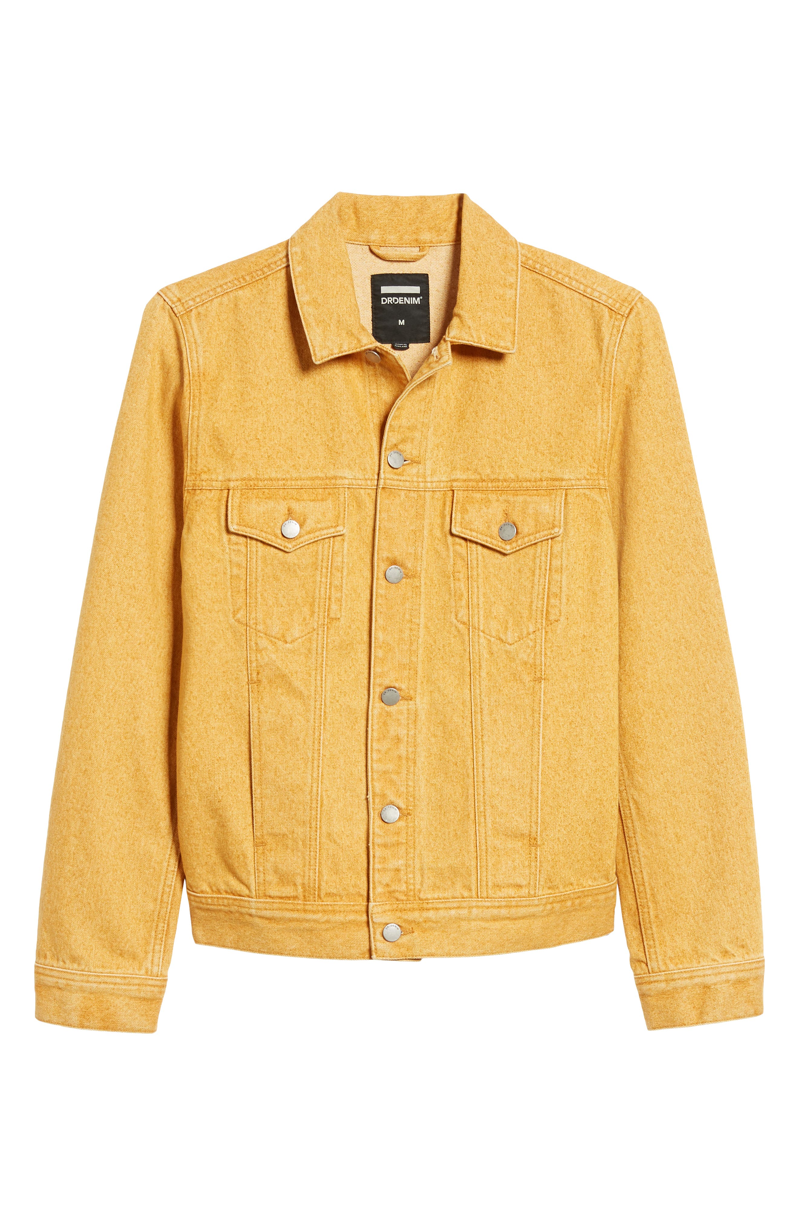 Dwight Denim Jacket,                             Alternate thumbnail 5, color,                             DUSTY GOLD