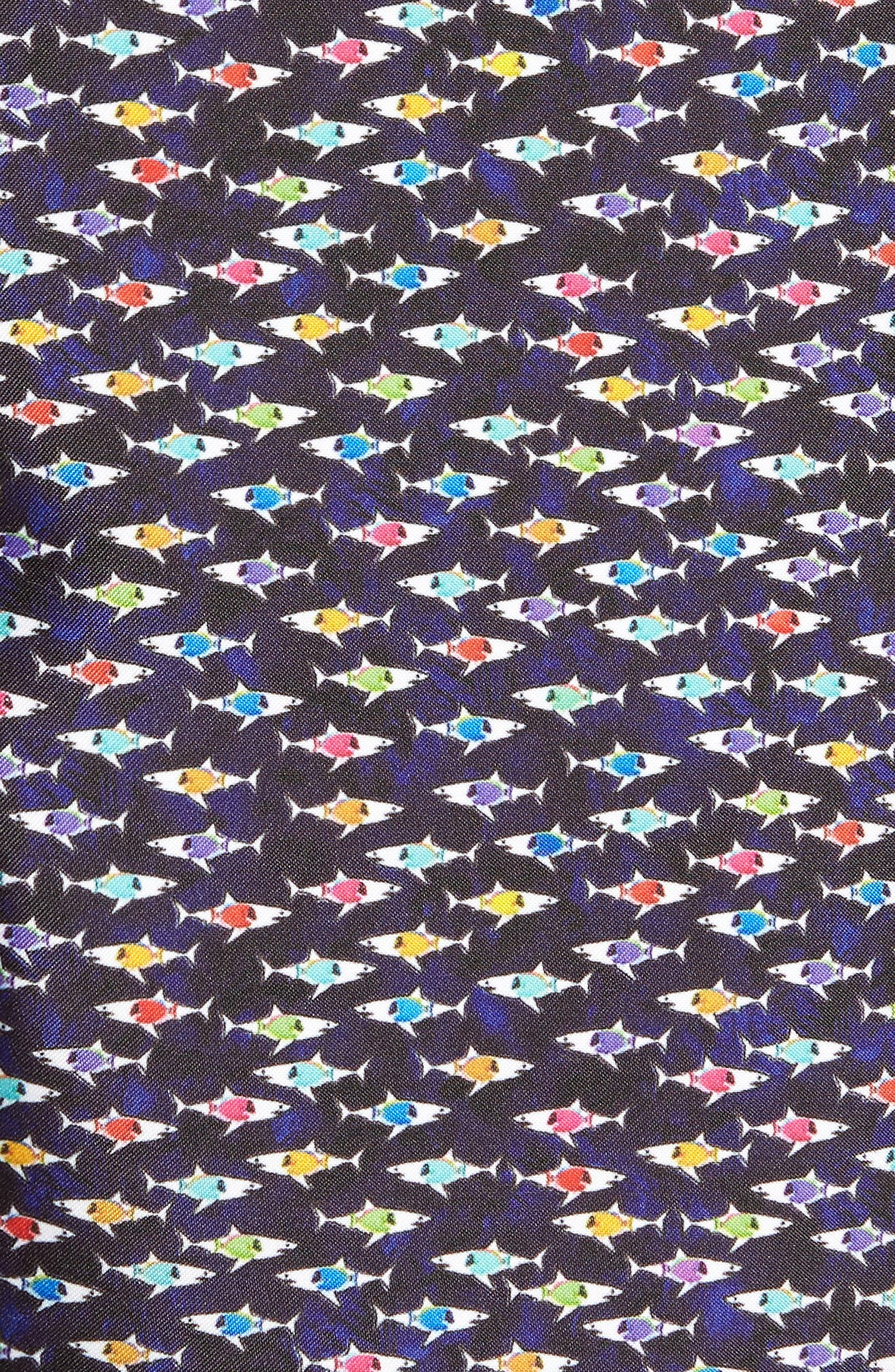 Fish Print Swim Trunks,                             Alternate thumbnail 5, color,
