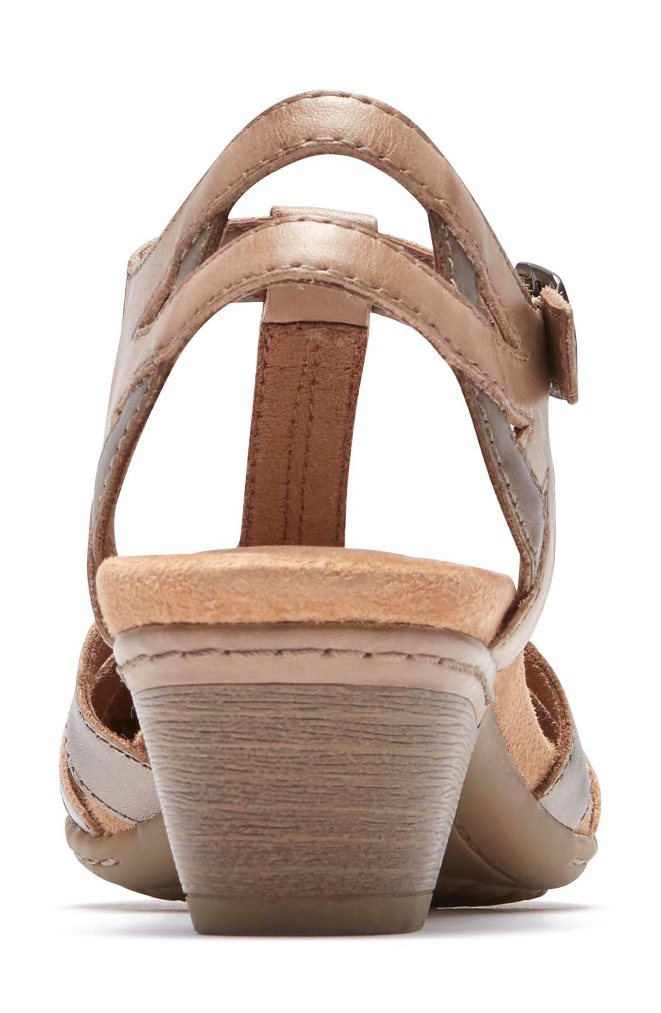 'Aubrey' Sandal,                             Alternate thumbnail 7, color,                             NEW KHAKI MULTI LEATHER
