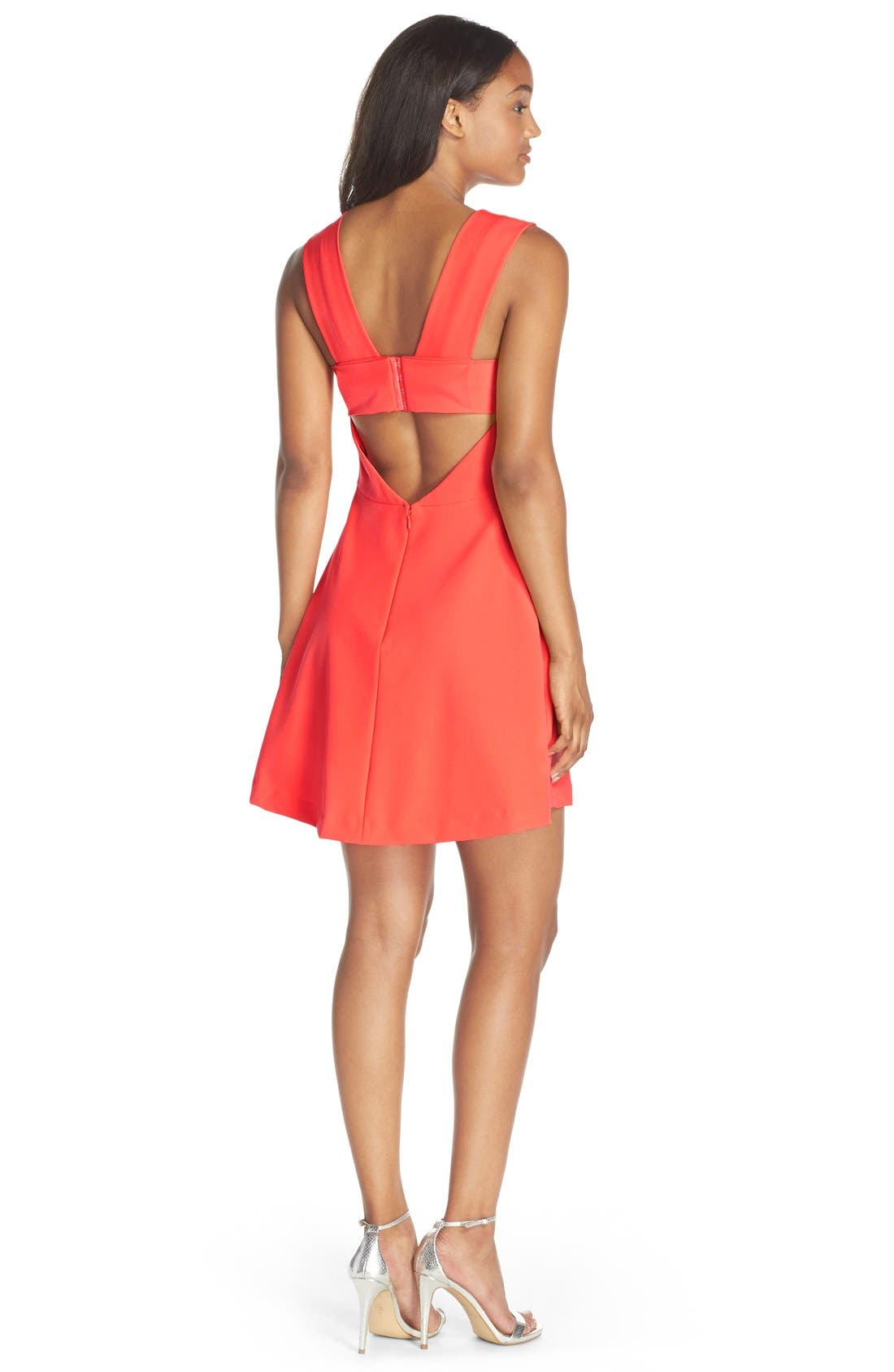 Bianca Back Cutout Fit & Flare Dress,                             Alternate thumbnail 30, color,