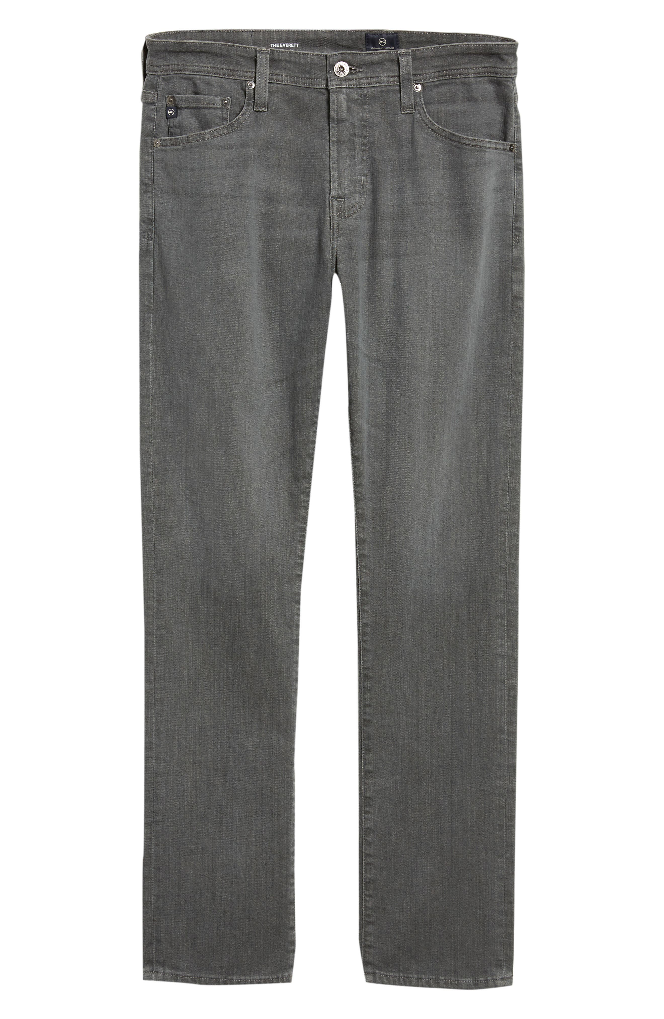 Everett Slim Straight Leg Jeans,                             Alternate thumbnail 6, color,                             PASSENGER