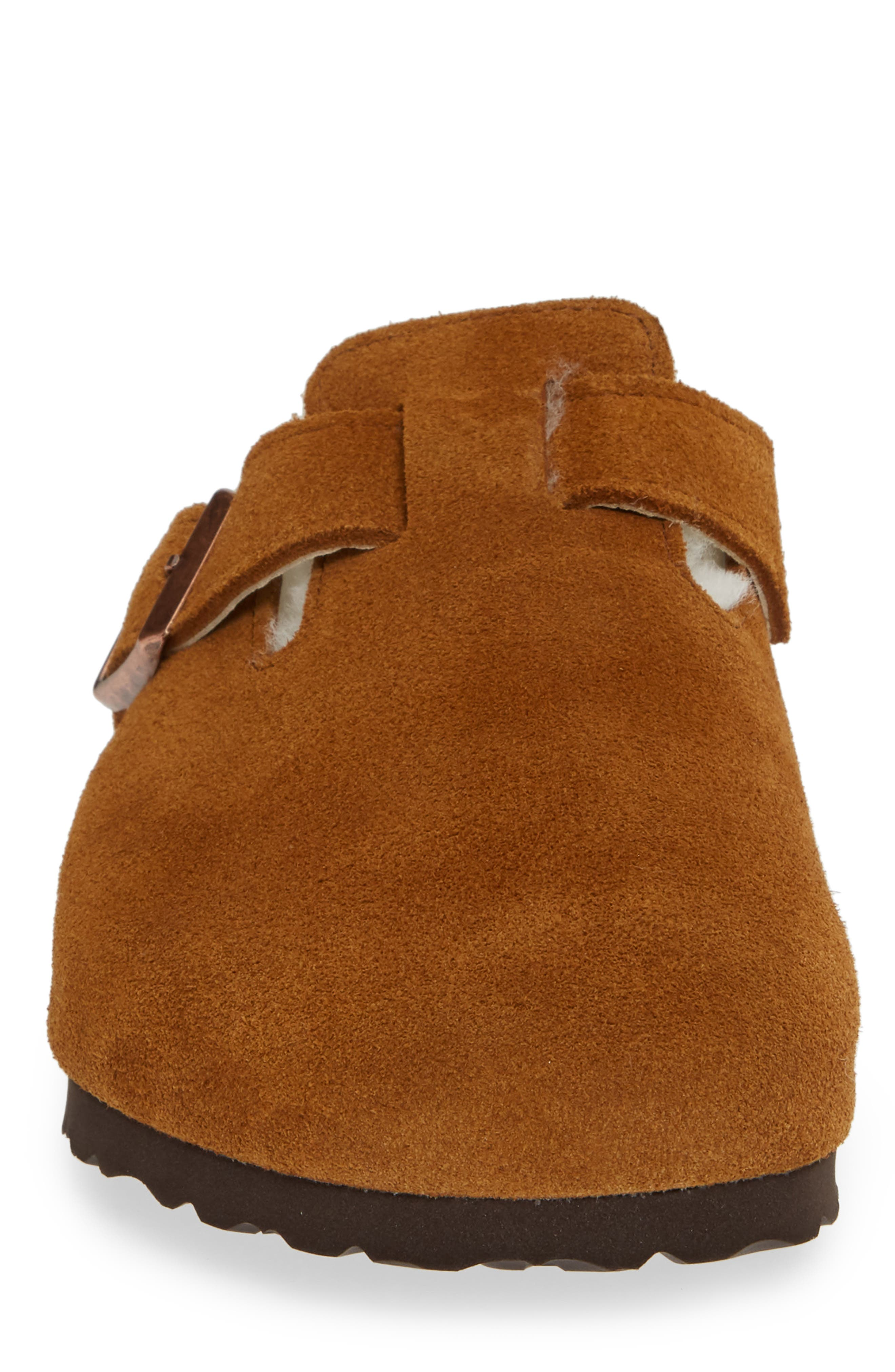 Boston Slip-On with Genuine Shearling Lining,                             Alternate thumbnail 4, color,                             BEIGE