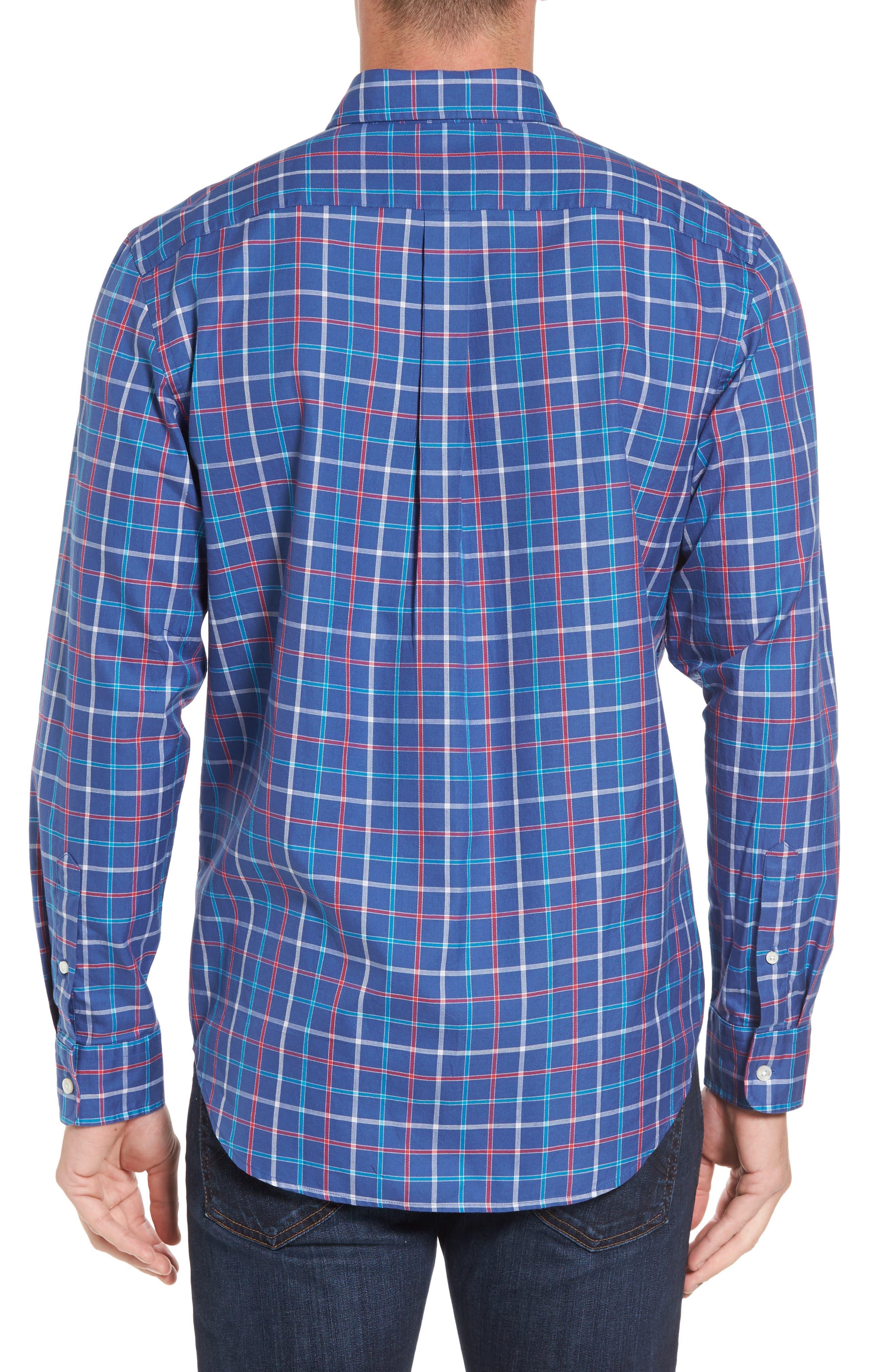 Classic Fit Murray Jade Cove Check Sport Shirt,                             Alternate thumbnail 2, color,