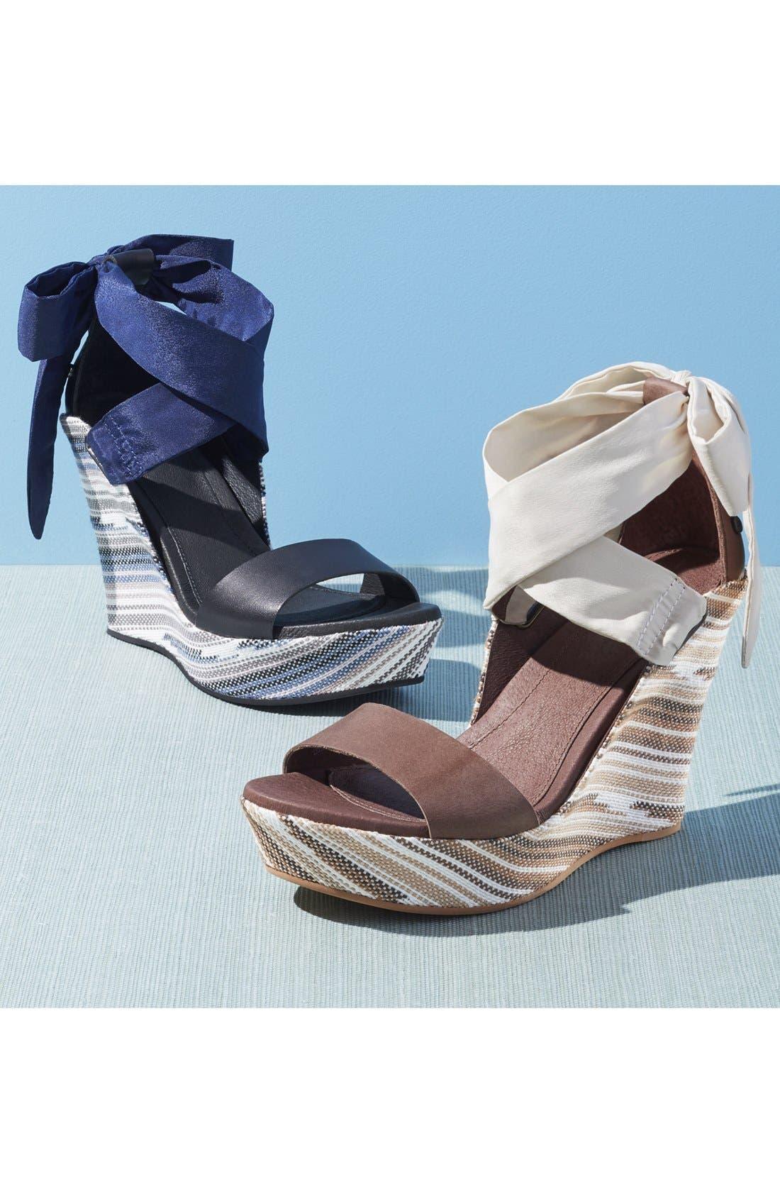 UGG<SUP>®</SUP>,                             'Jules Serape' Platform Wedge Sandal,                             Alternate thumbnail 5, color,                             201