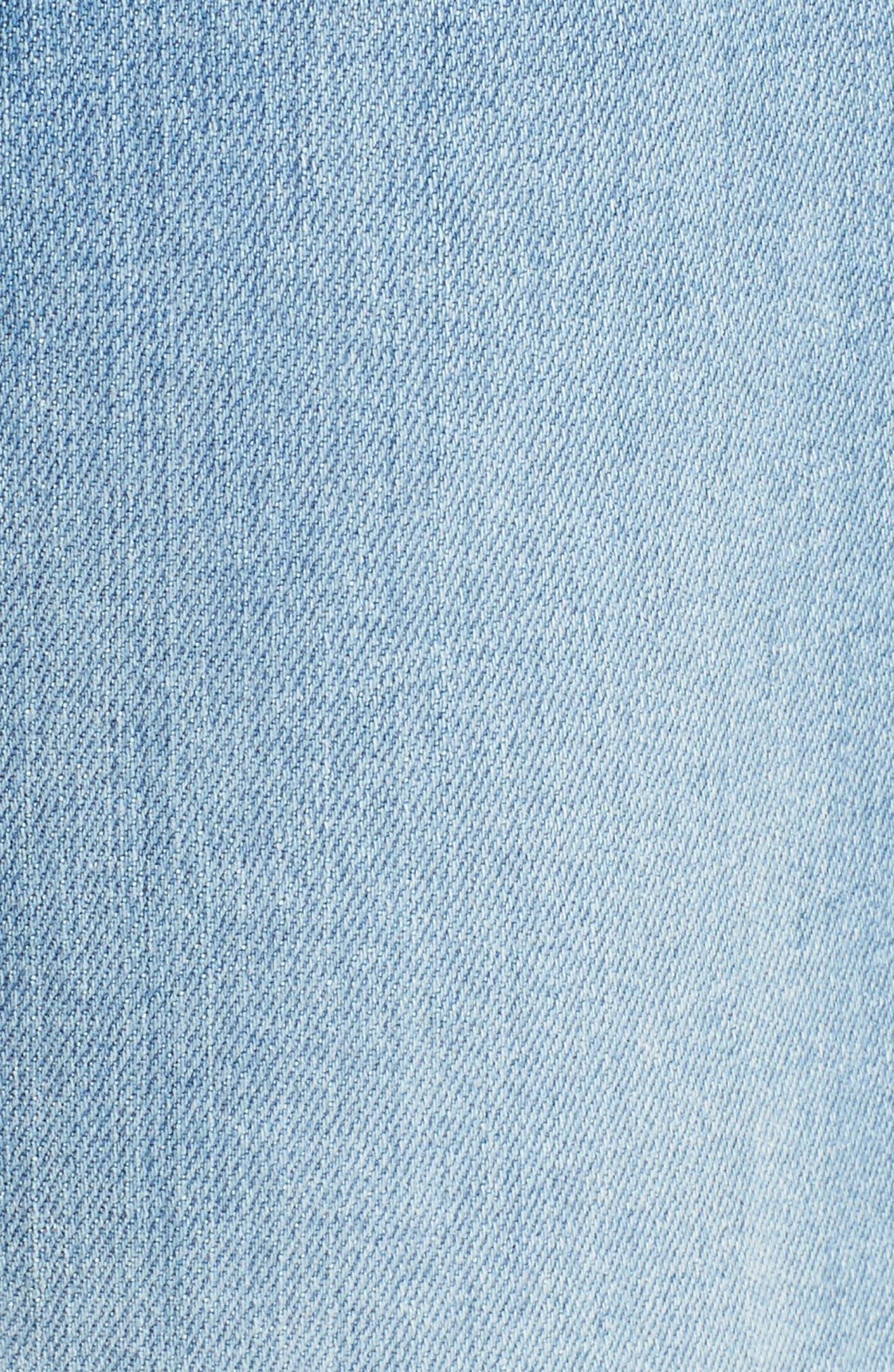 Josefina High Waist Crop Boyfriend Jeans,                             Alternate thumbnail 5, color,                             400