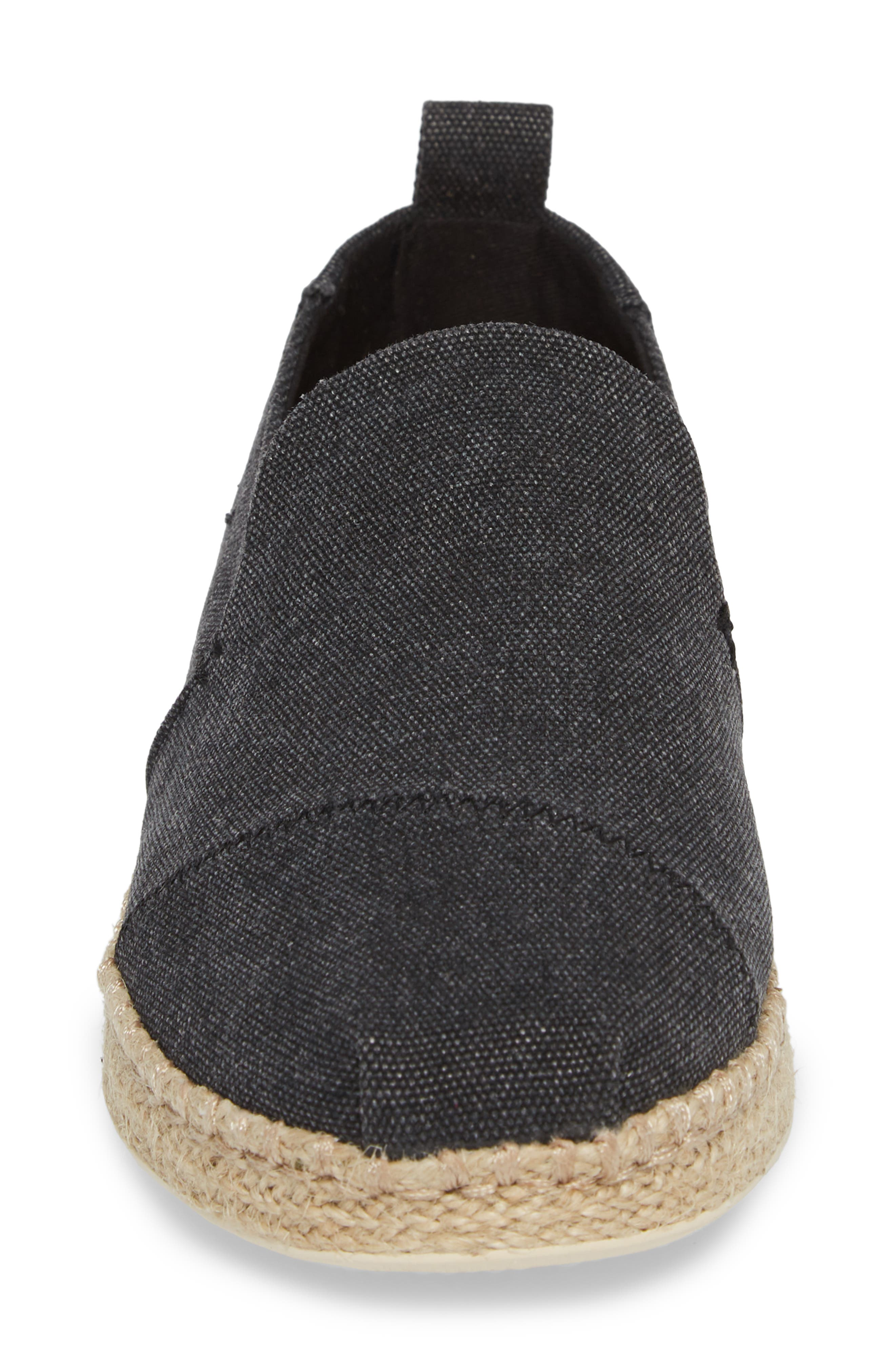 Deconstructed Alpargata Slip-On,                             Alternate thumbnail 4, color,                             001