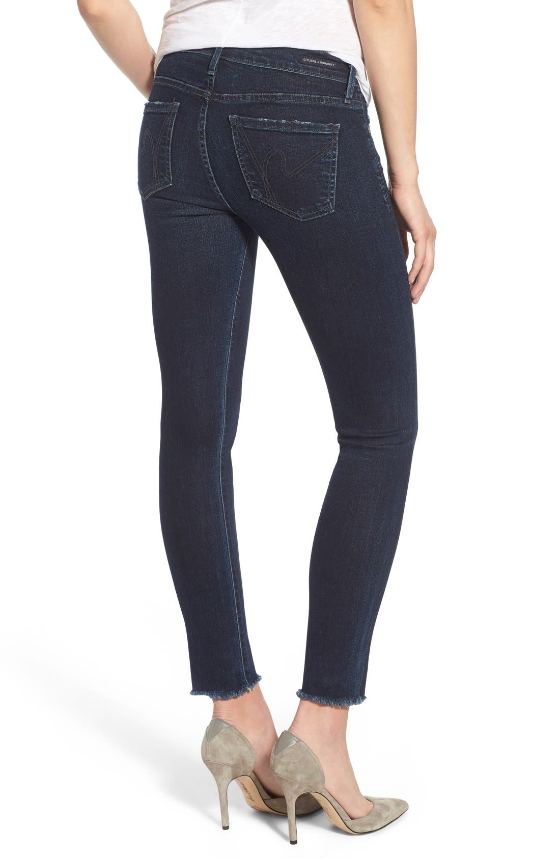CITIZENS OF HUMANITY,                             Cutoff Ankle Skinny Jeans,                             Alternate thumbnail 6, color,                             408