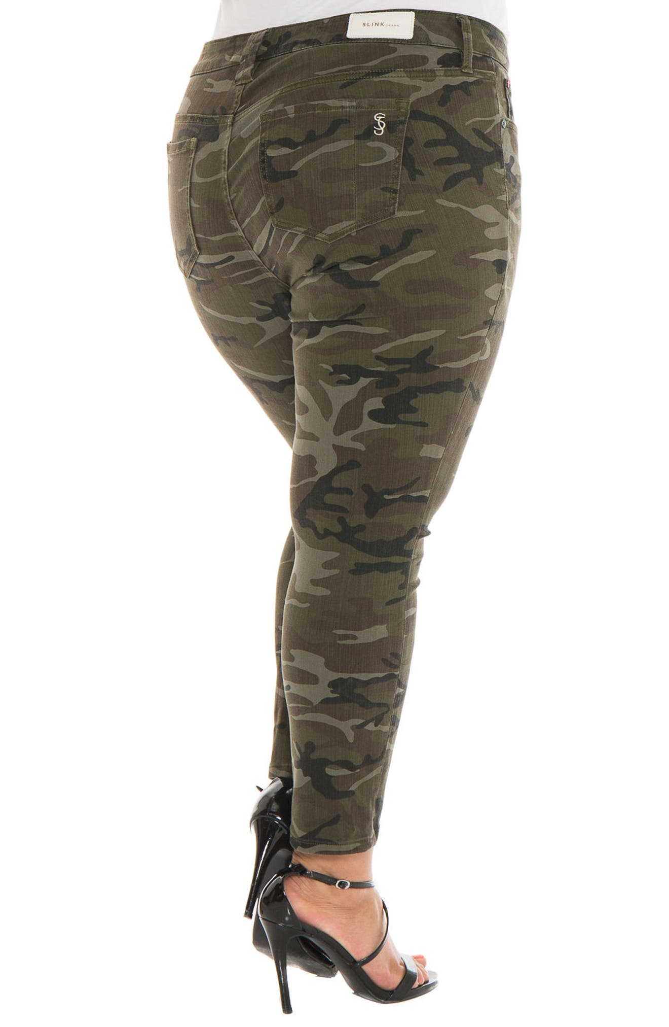 Camo Ankle Skinny Jeans,                             Alternate thumbnail 2, color,                             305