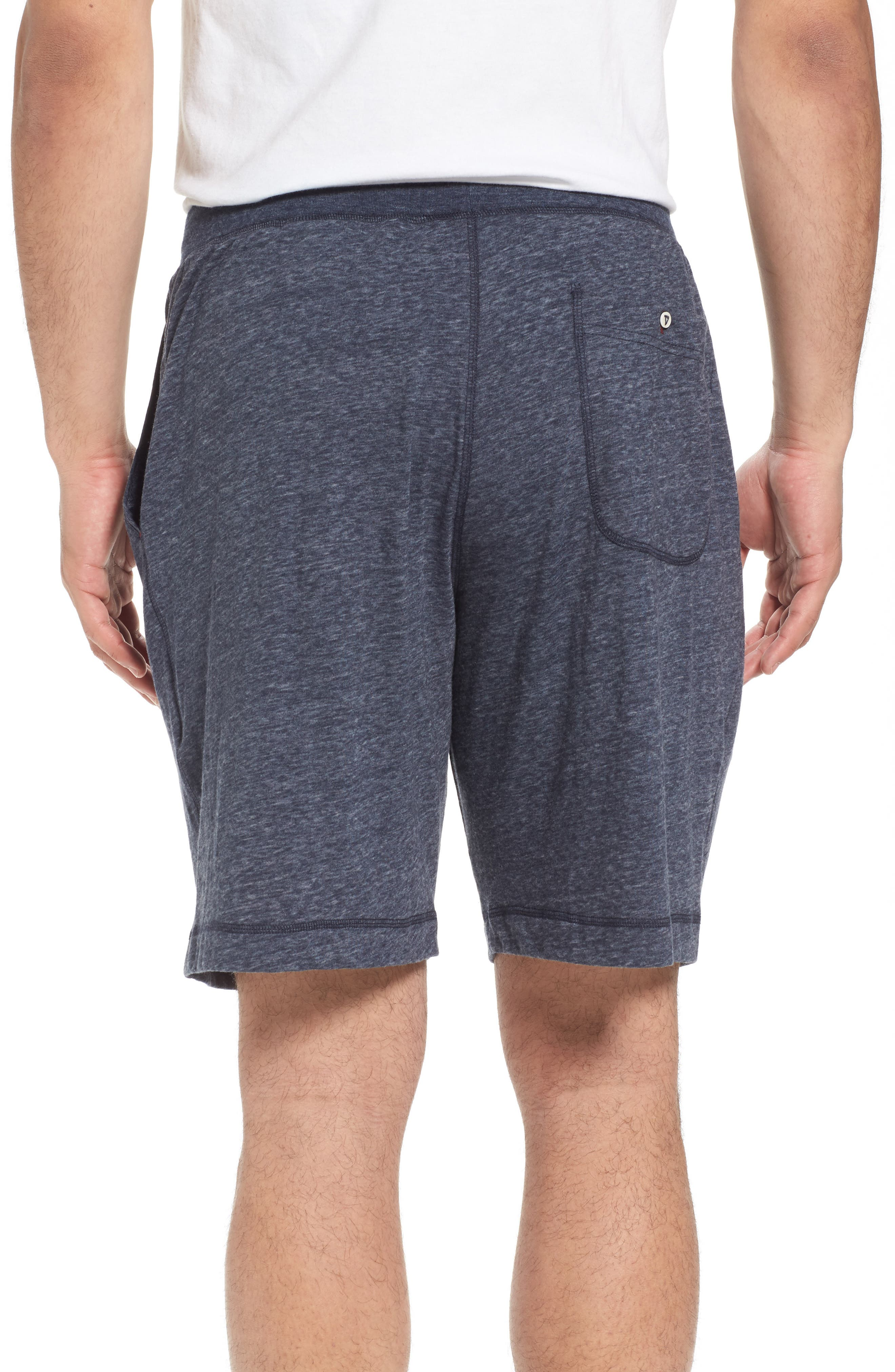 Recycled Cotton Blend Lounge Shorts,                             Alternate thumbnail 2, color,                             NAVY HEATHER