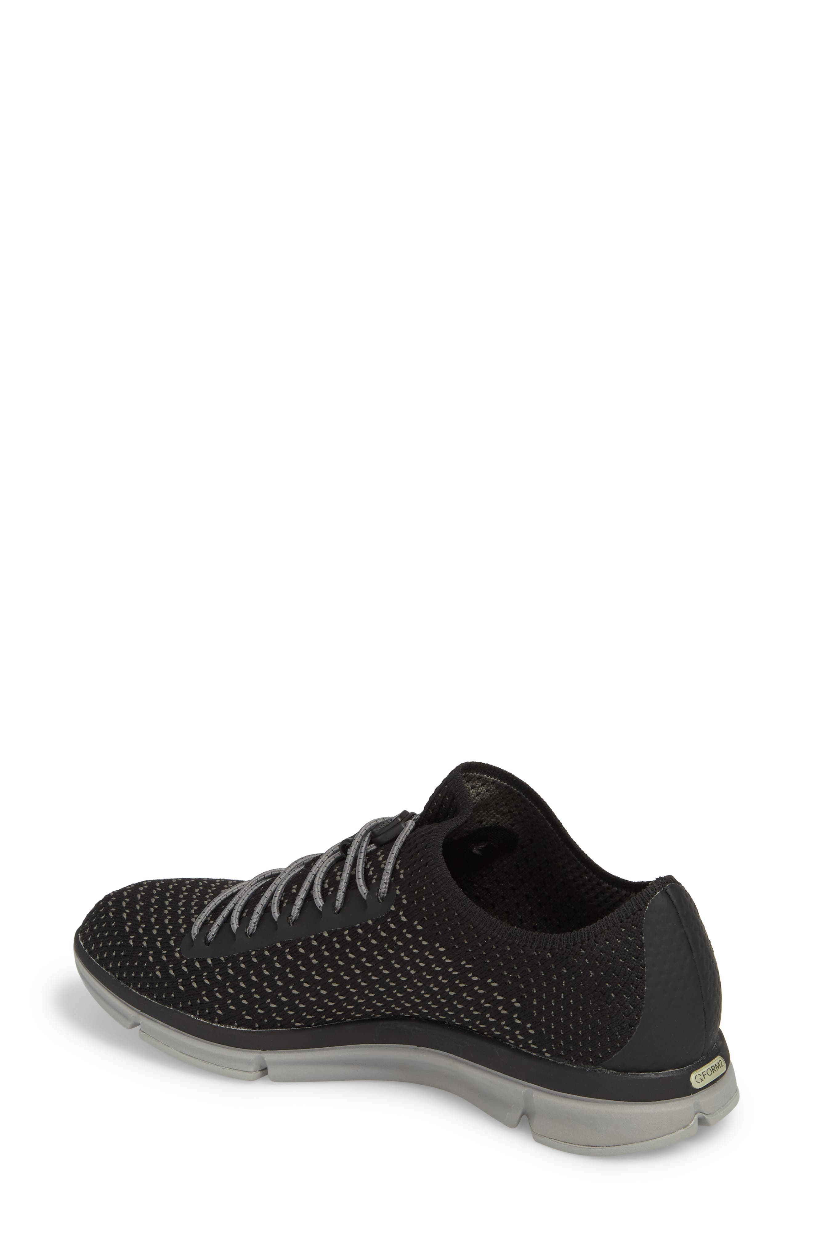 Zoe Sojourn Lace Knit Sneaker,                             Alternate thumbnail 2, color,                             001