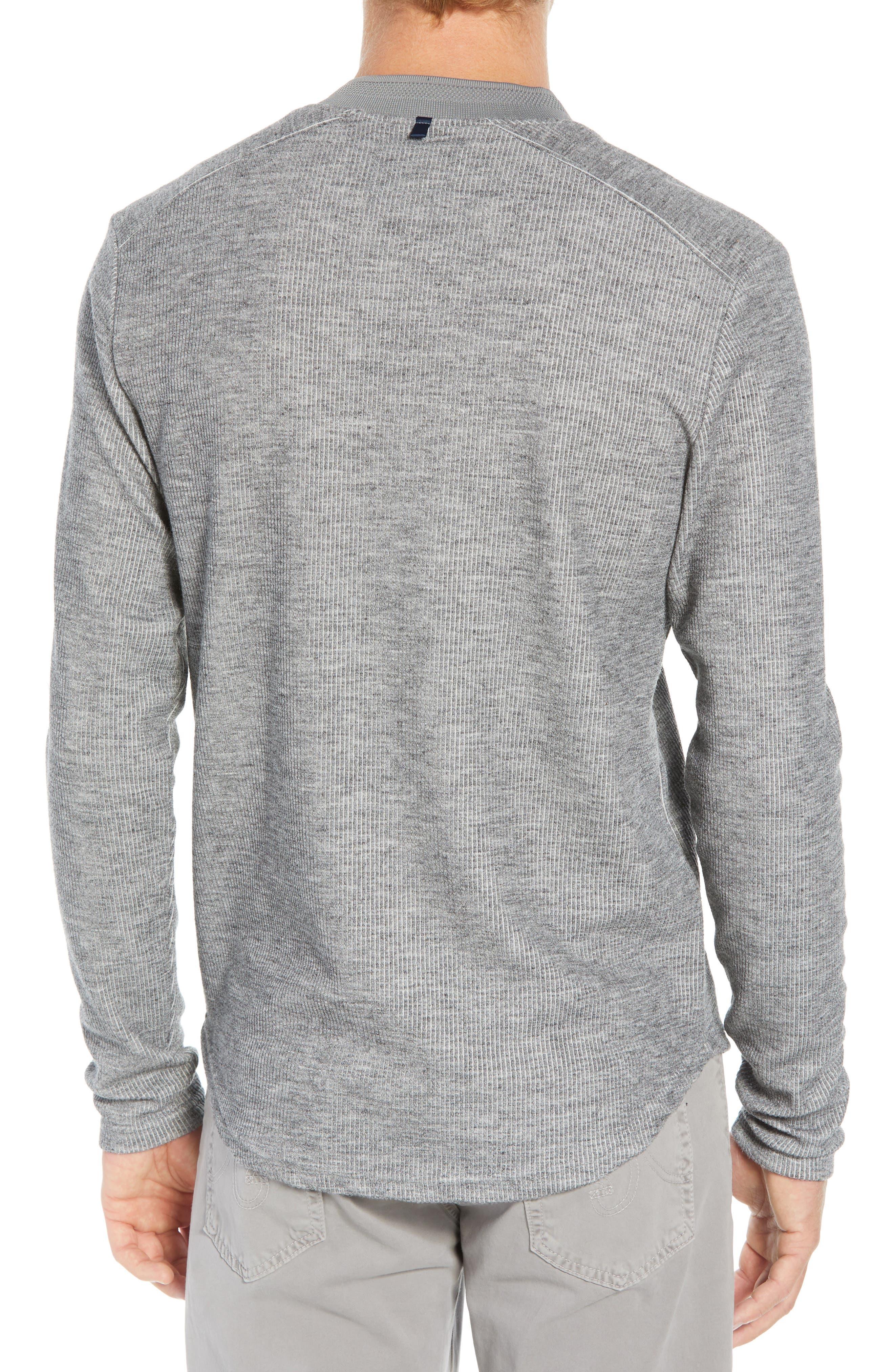 Charlie Rib Knit Henley Shirt,                             Alternate thumbnail 2, color,                             GREY