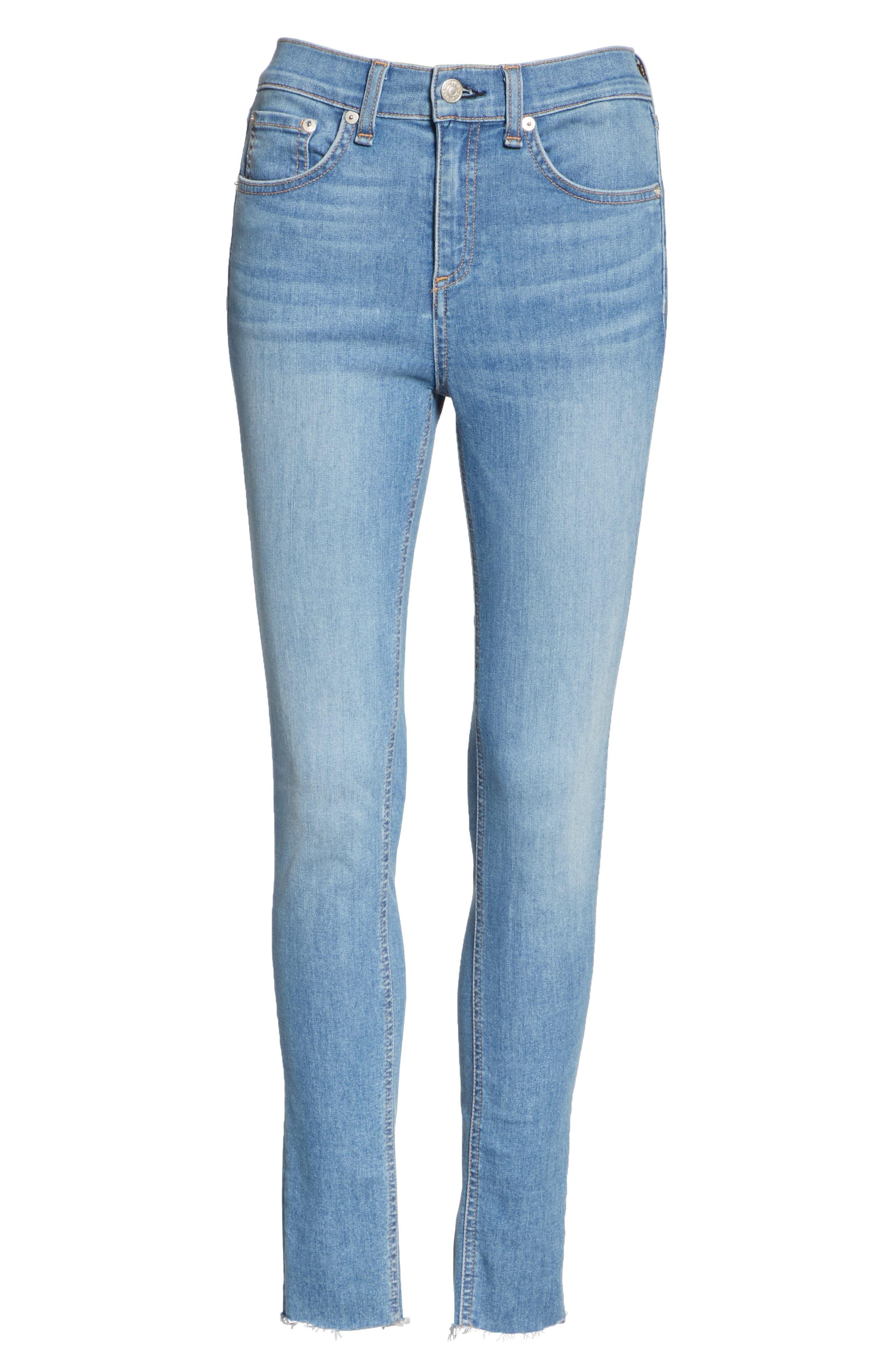 High Waist Skinny Jeans,                             Alternate thumbnail 6, color,