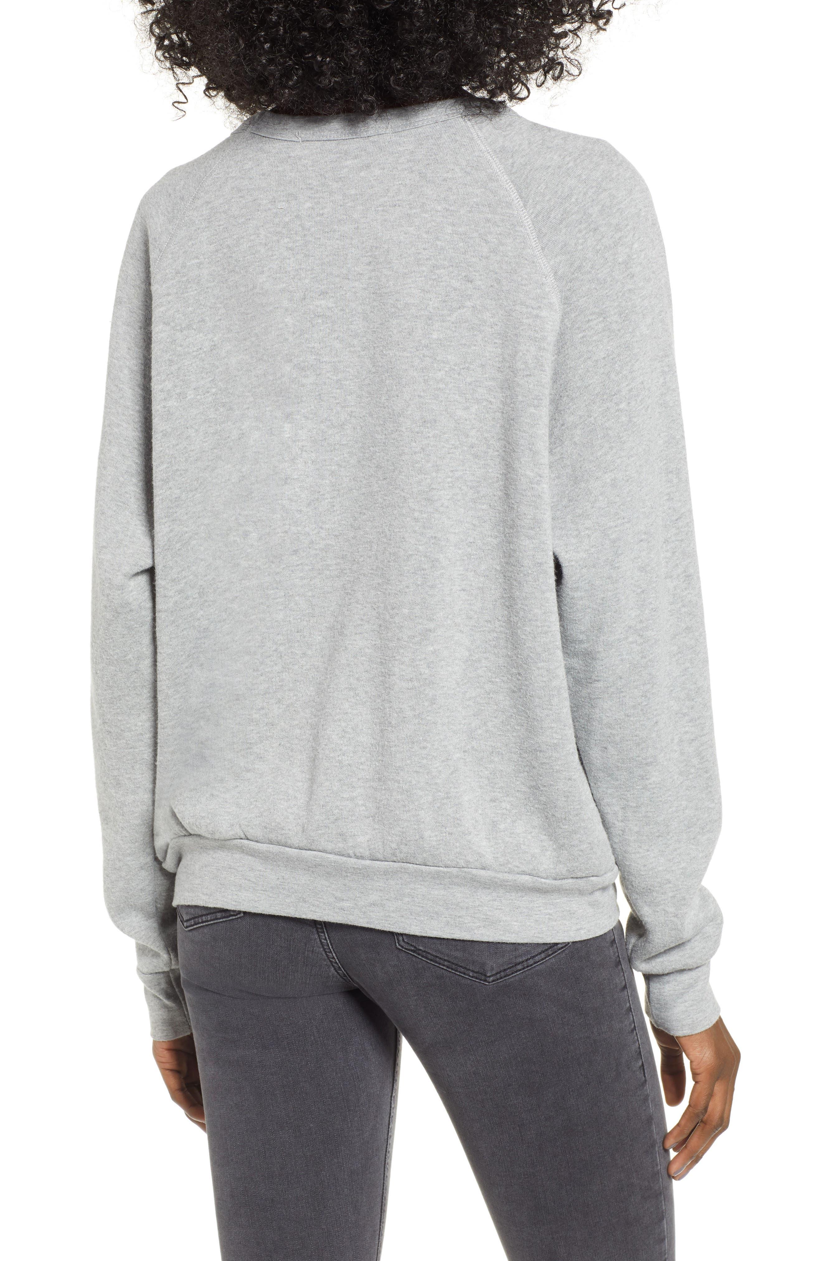 Naughty/Nice Reversible Sweatshirt,                             Alternate thumbnail 3, color,                             HEATHER GREY
