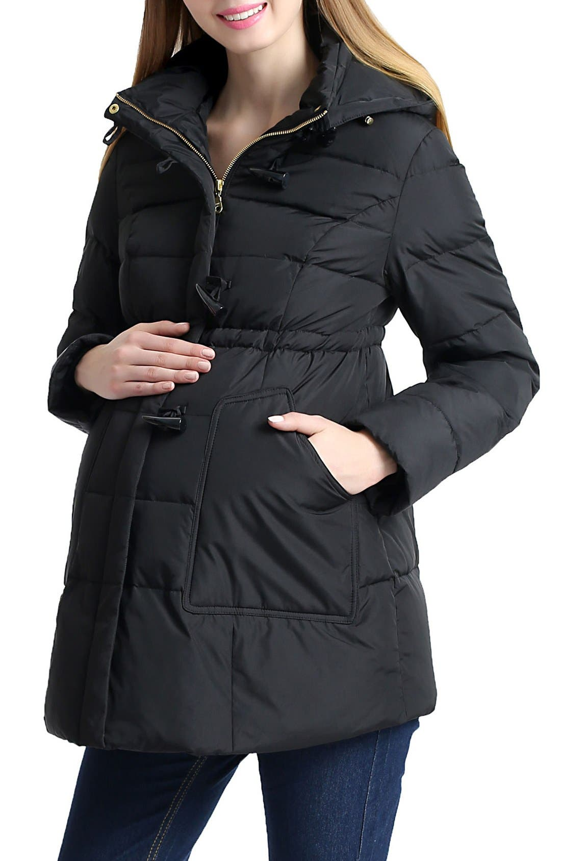'Marlo' Water Resistant Down Maternity Parka,                             Alternate thumbnail 7, color,