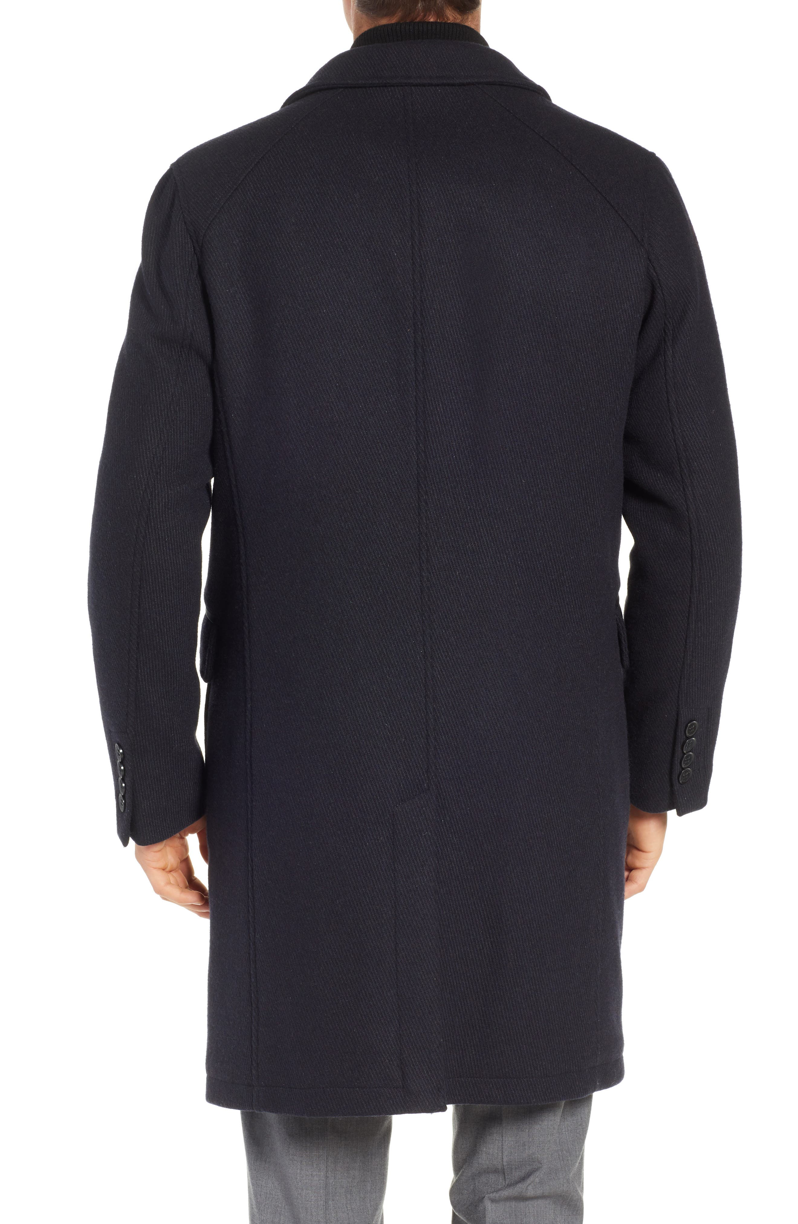 Wool Blend Overcoat with Knit Bib Inset,                             Alternate thumbnail 2, color,                             410