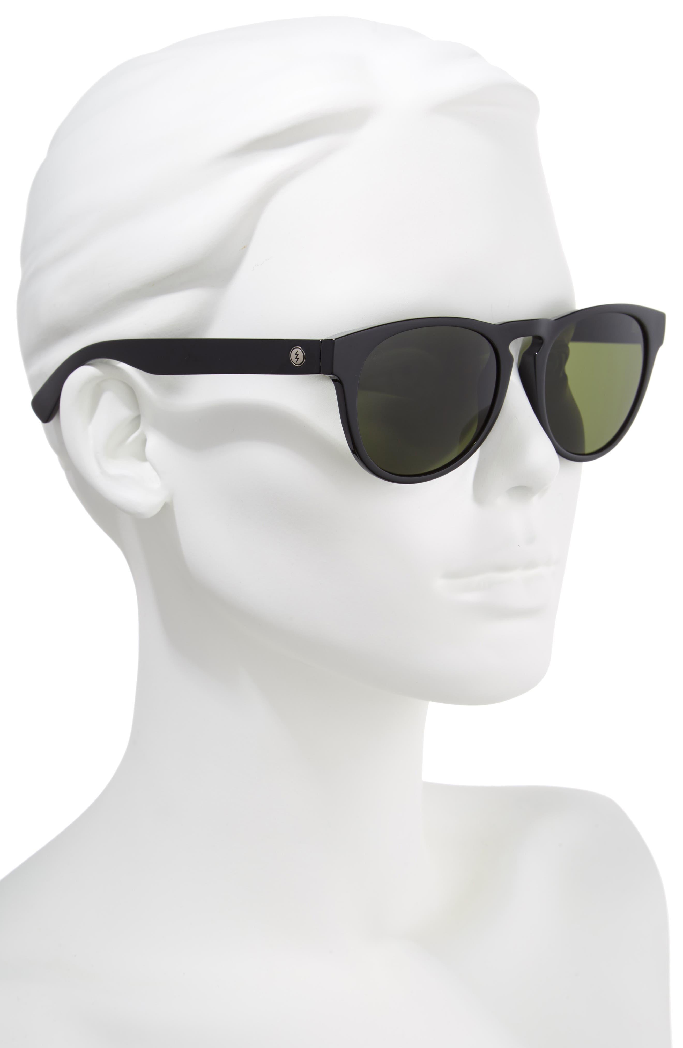 Nashville XL 52mm Melanin Infused Sunglasses,                             Alternate thumbnail 2, color,                             GLOSS BLACK/ GREY