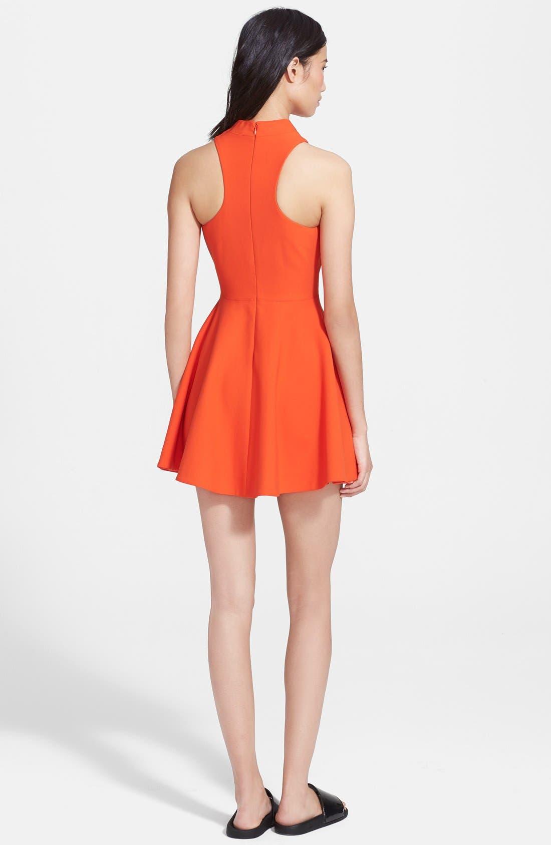 'Elle' Fit & Flare Racerback Dress,                             Alternate thumbnail 3, color,                             843