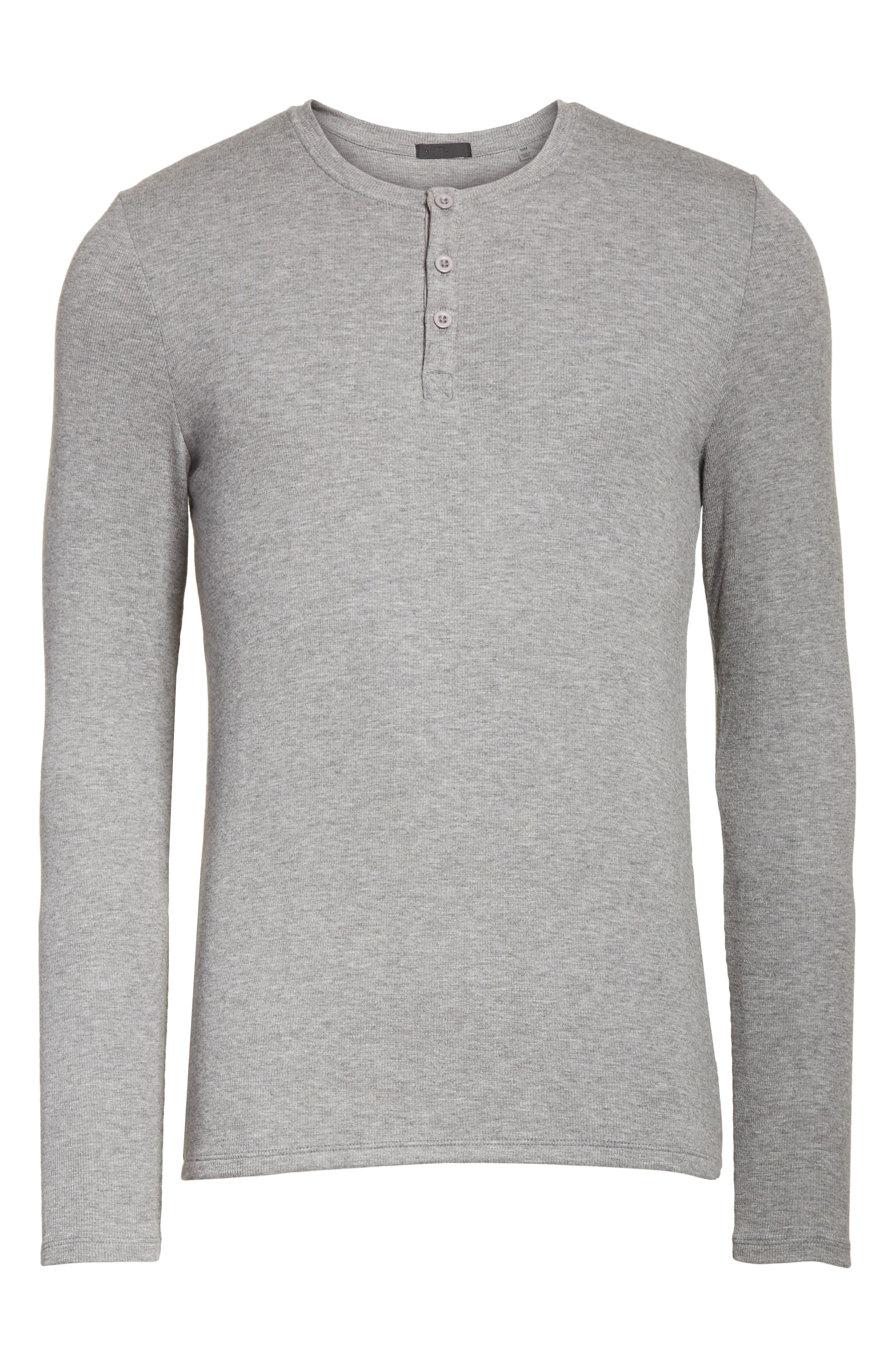 Long Sleeve Rib Henley,                             Alternate thumbnail 6, color,                             050