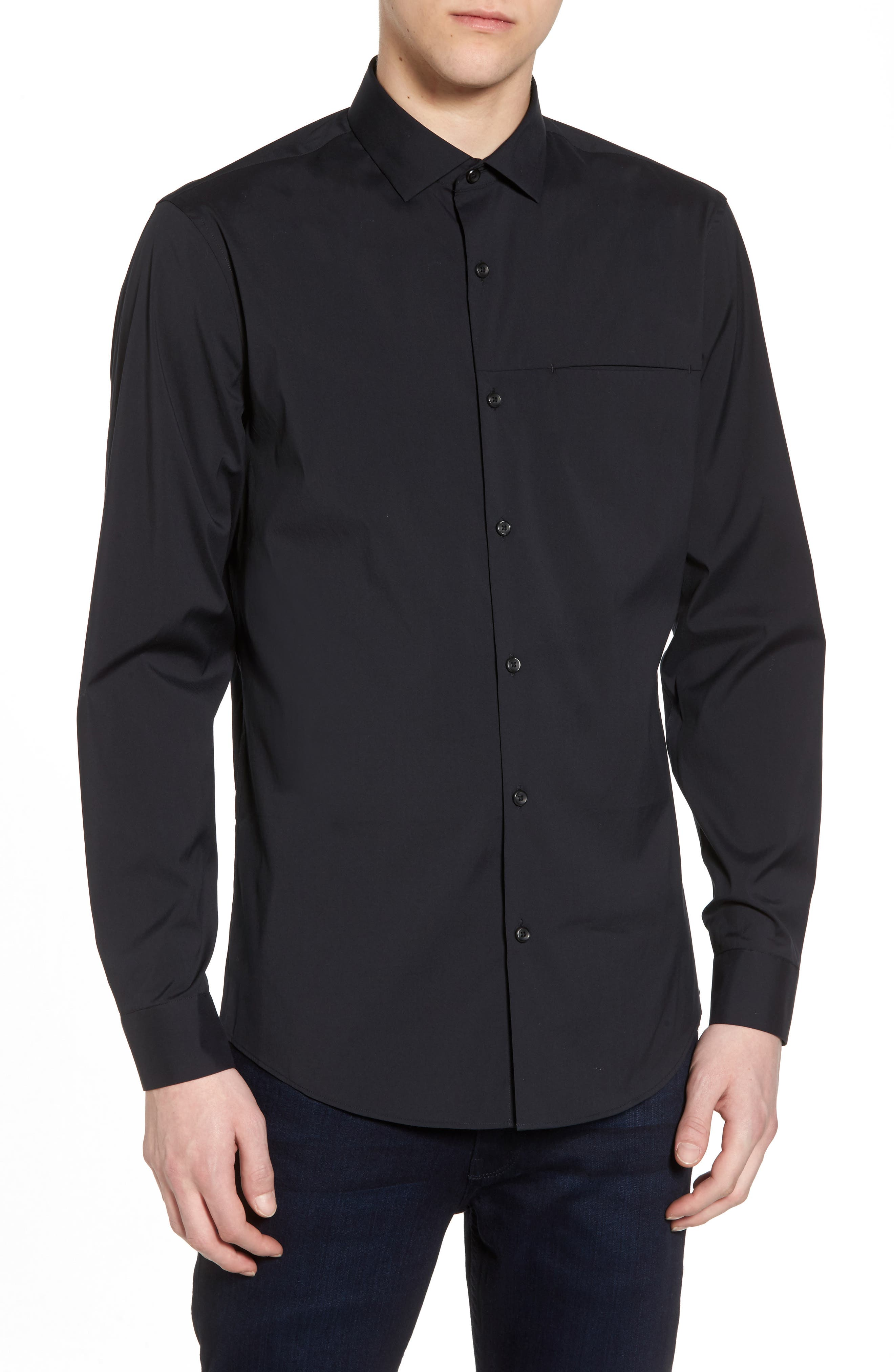 Slim Fit Stretch Sport Shirt,                         Main,                         color,
