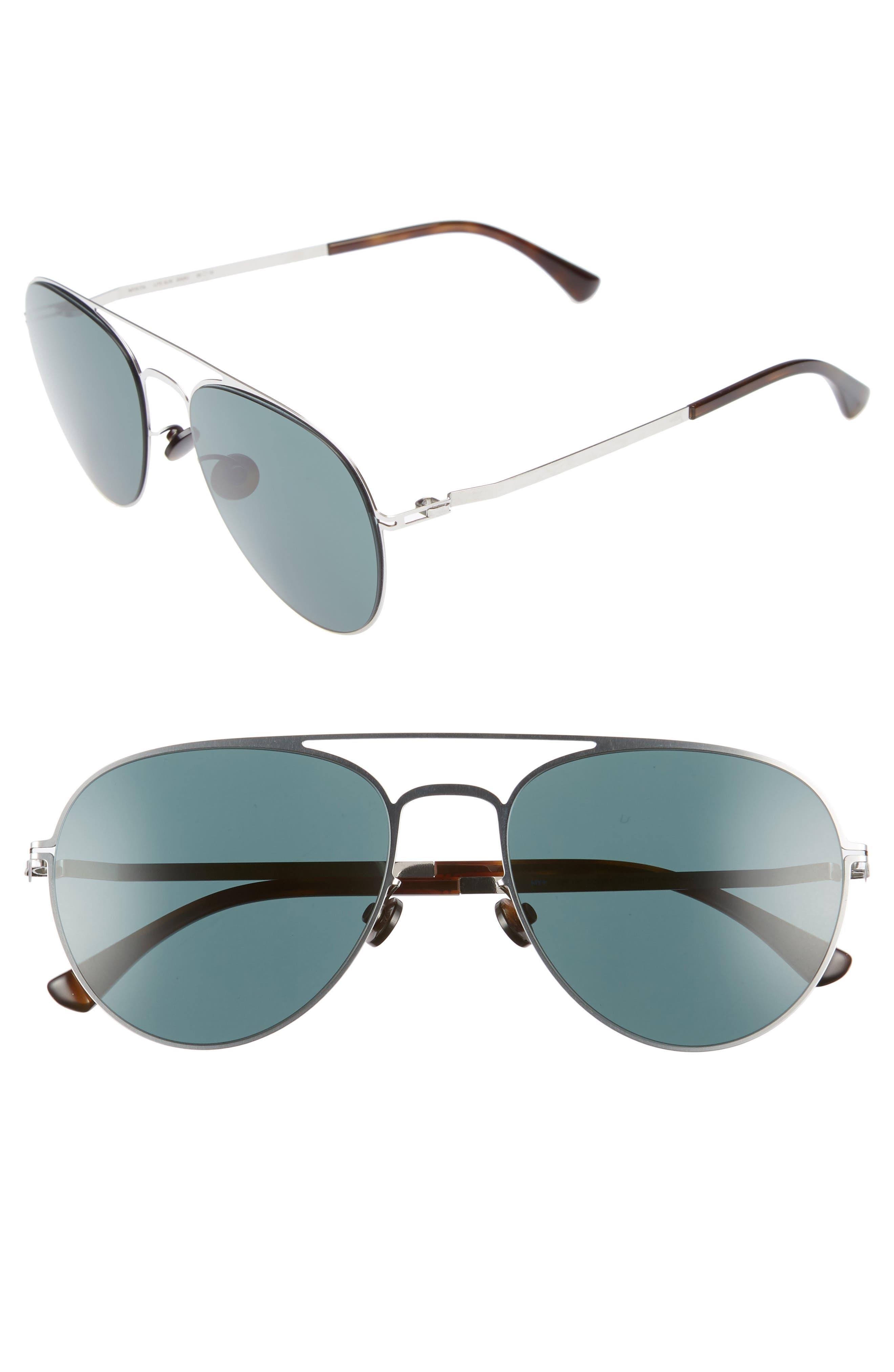 Samu 55mm Polarized Aviator Sunglasses,                             Main thumbnail 2, color,