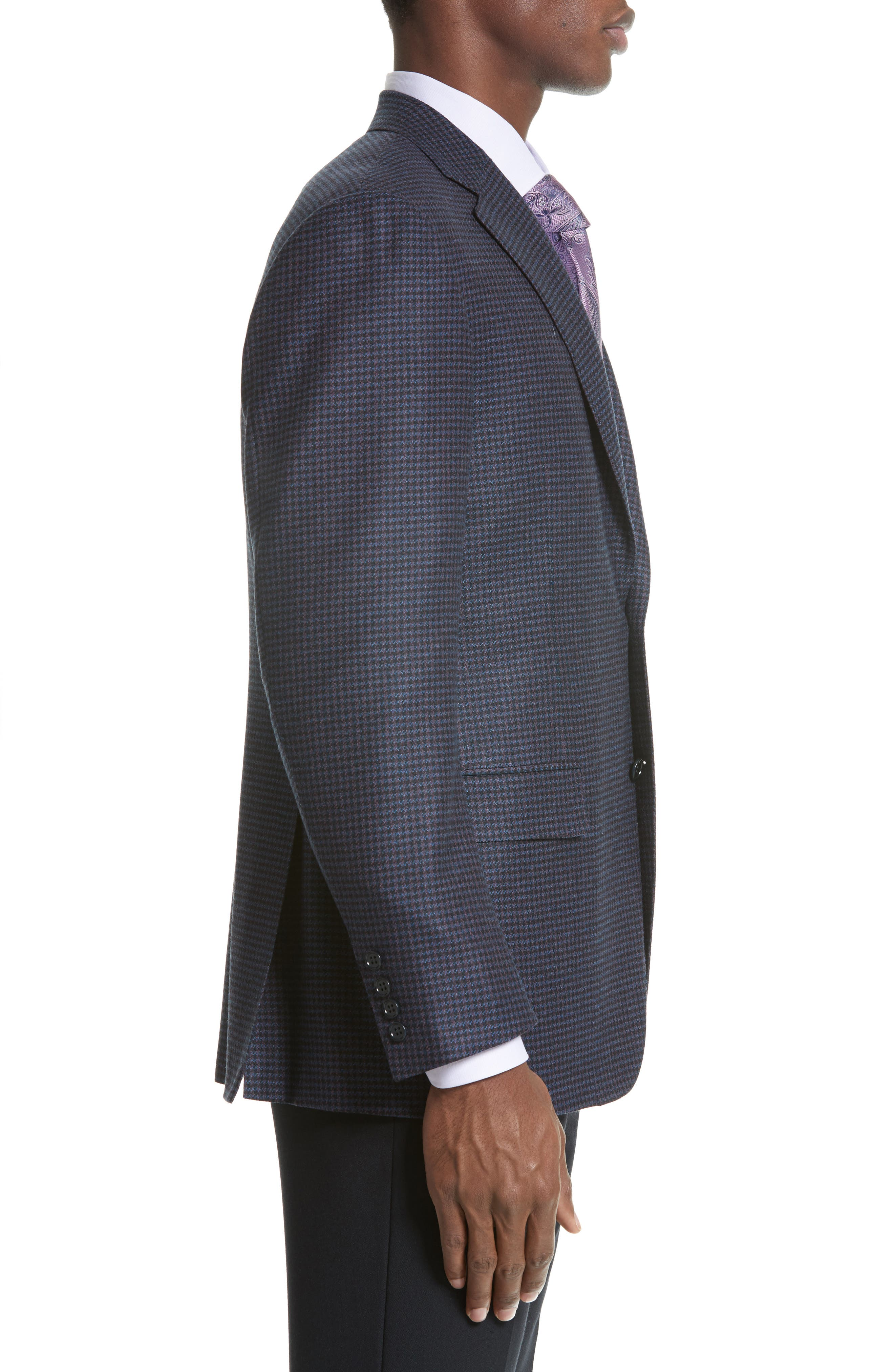 Classic Fit Houndstooth Wool Sport Coat,                             Alternate thumbnail 3, color,                             400