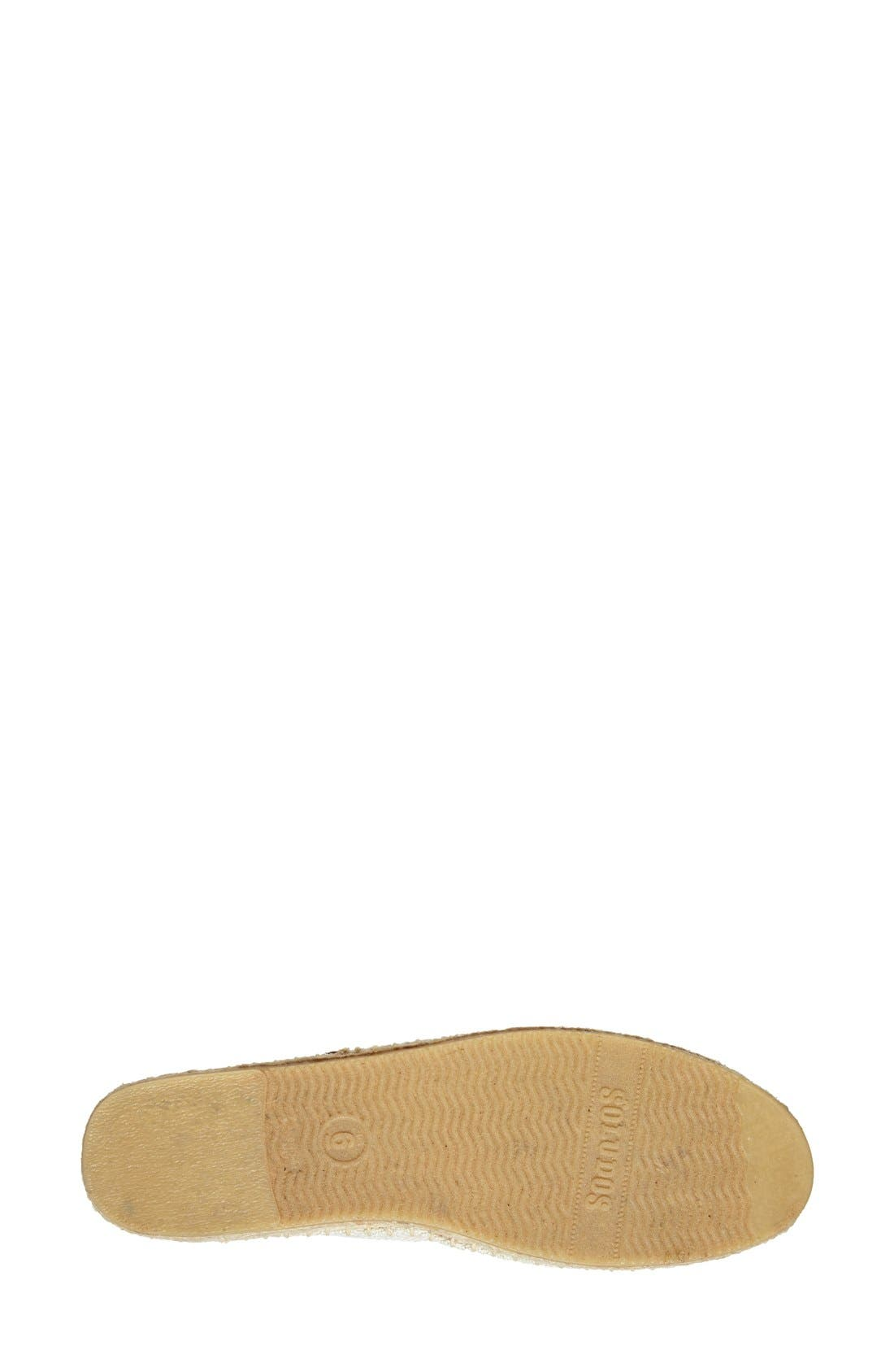 SOLUDOS,                             Jason Polan Espadrille Sandal,                             Alternate thumbnail 4, color,                             WINK SAND